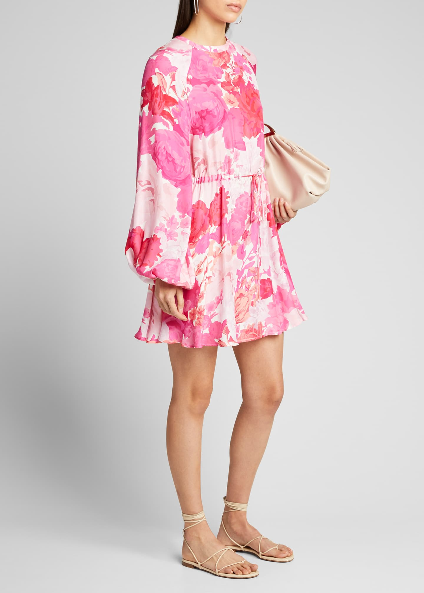 Stine Goya Coco Floral Tie-Waist Short Dress