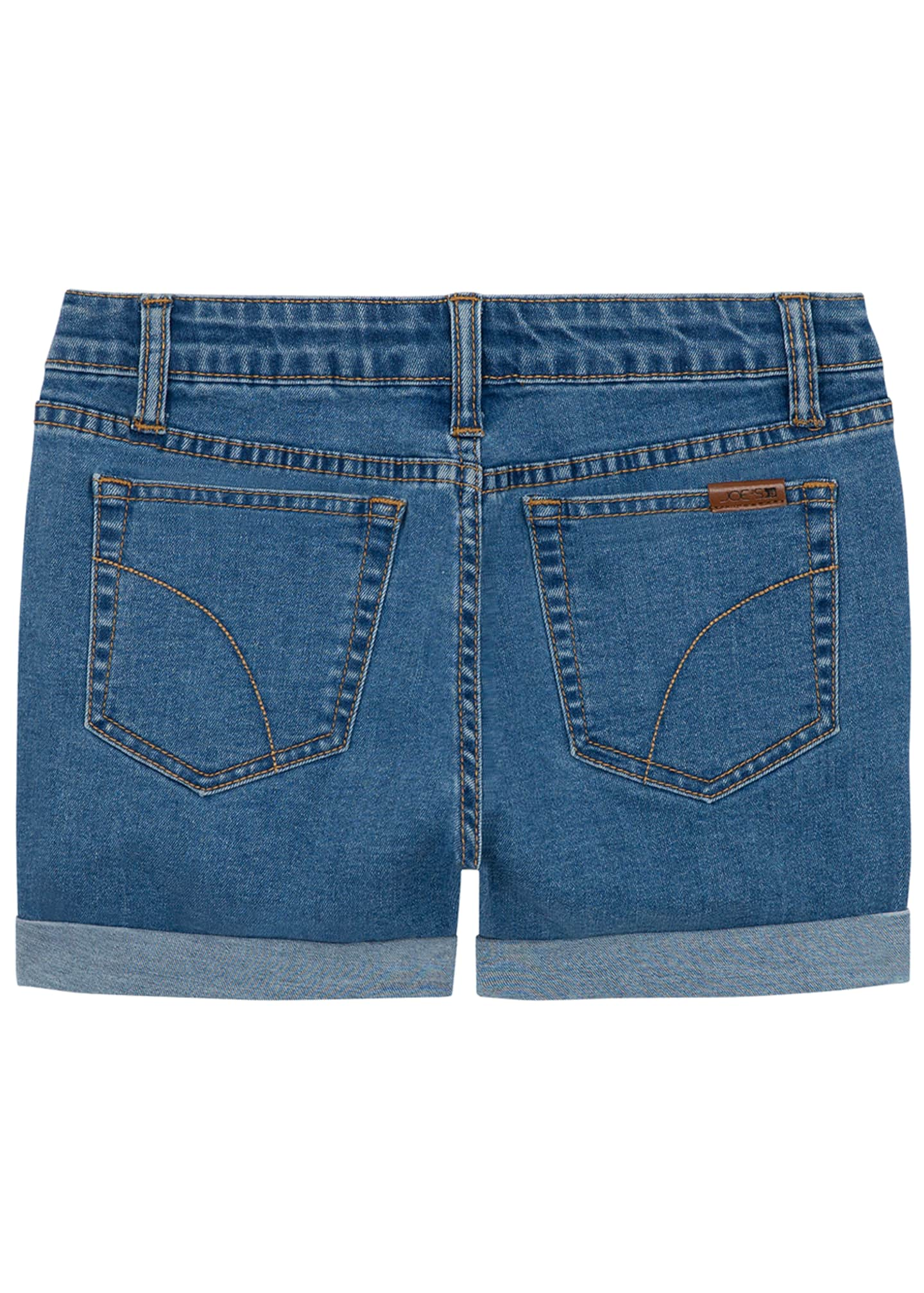 Image 2 of 2: Girl's High Rise Button Fly Denim Shorts, Size 7-16