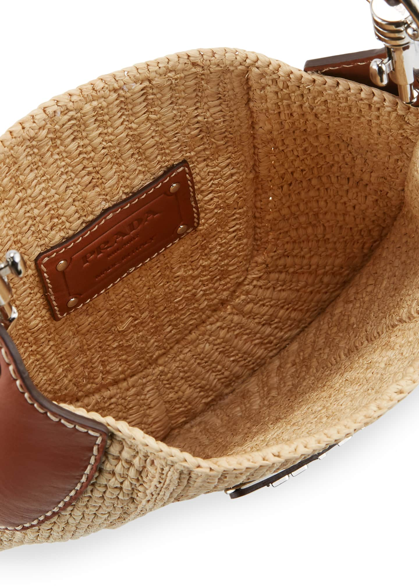 Image 2 of 4: Small Raffia Hobo Bag