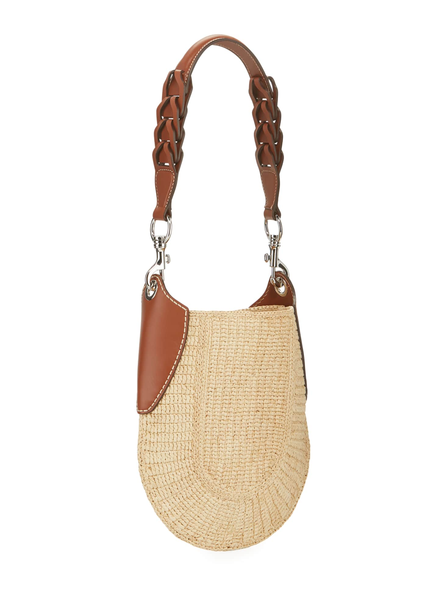 Image 3 of 4: Small Raffia Hobo Bag