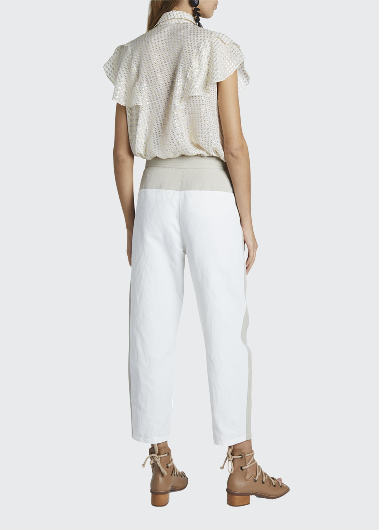 Image 2 of 4: Cropped Pants With Belt