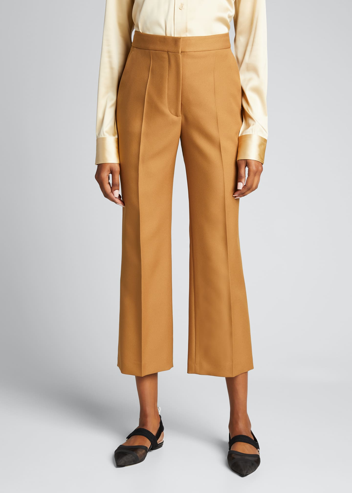 Image 3 of 5: Straight-Leg Cropped Pants