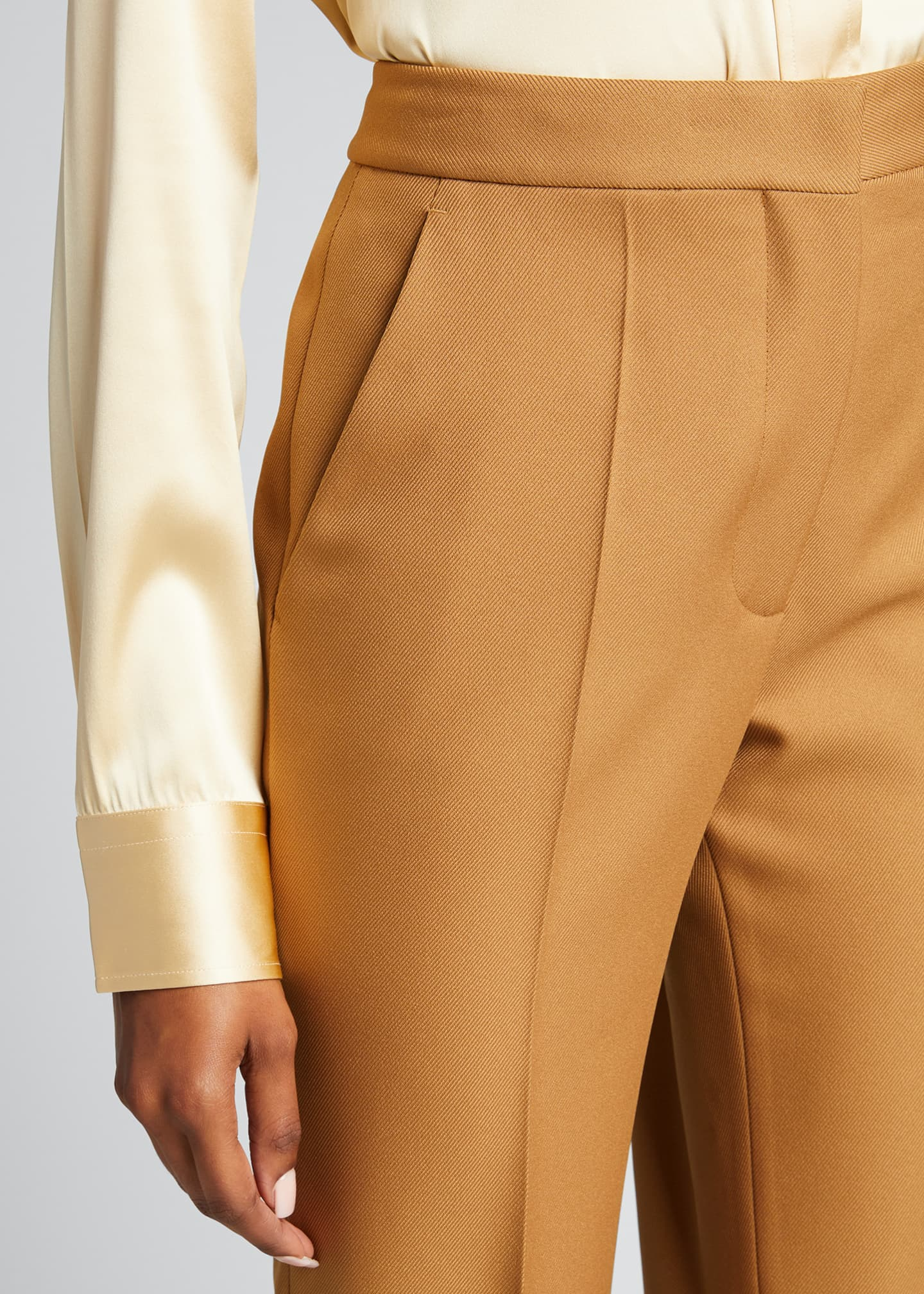 Image 4 of 5: Straight-Leg Cropped Pants