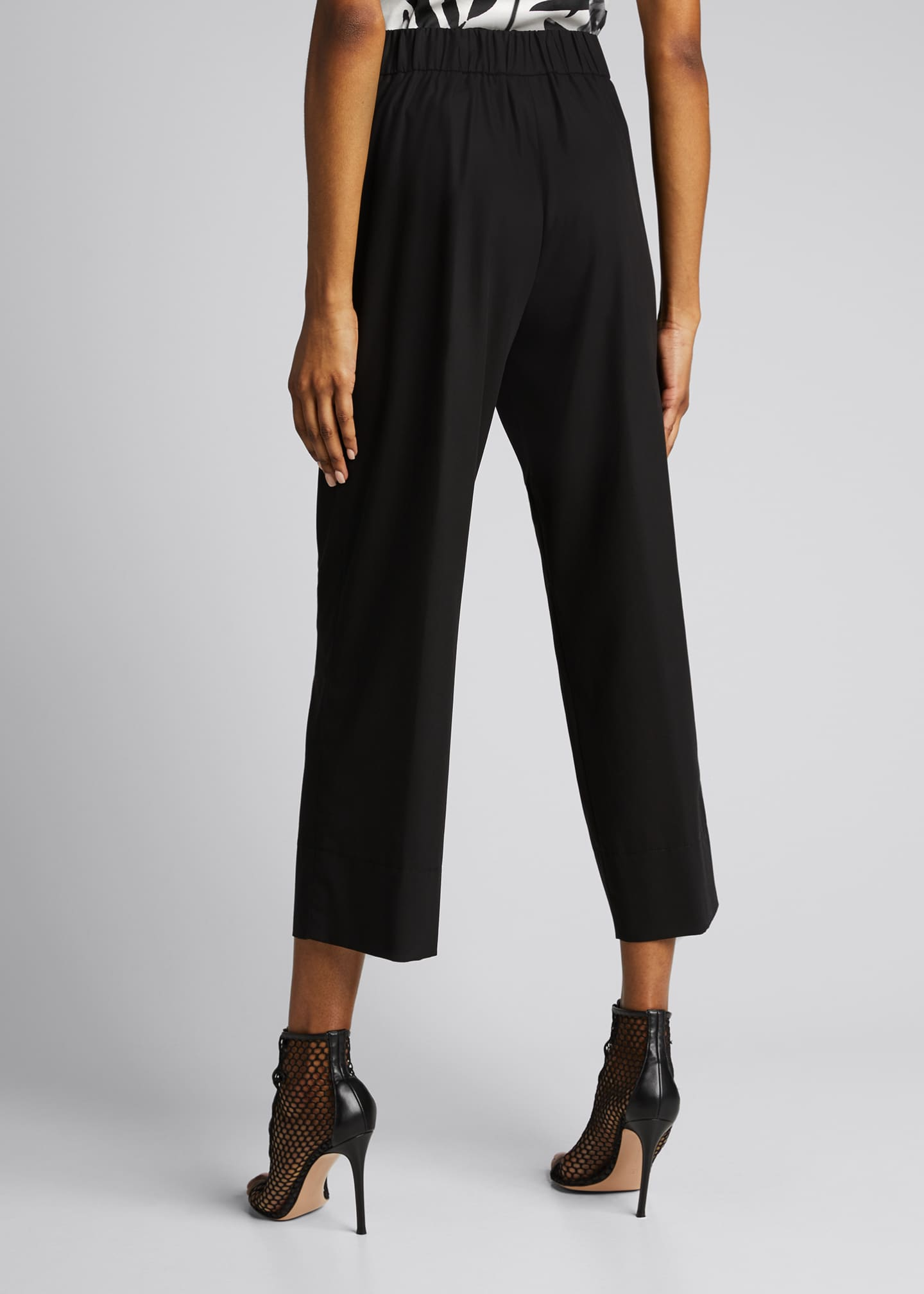 Image 2 of 5: Chrissy Cotton-Silk Poplin Pants