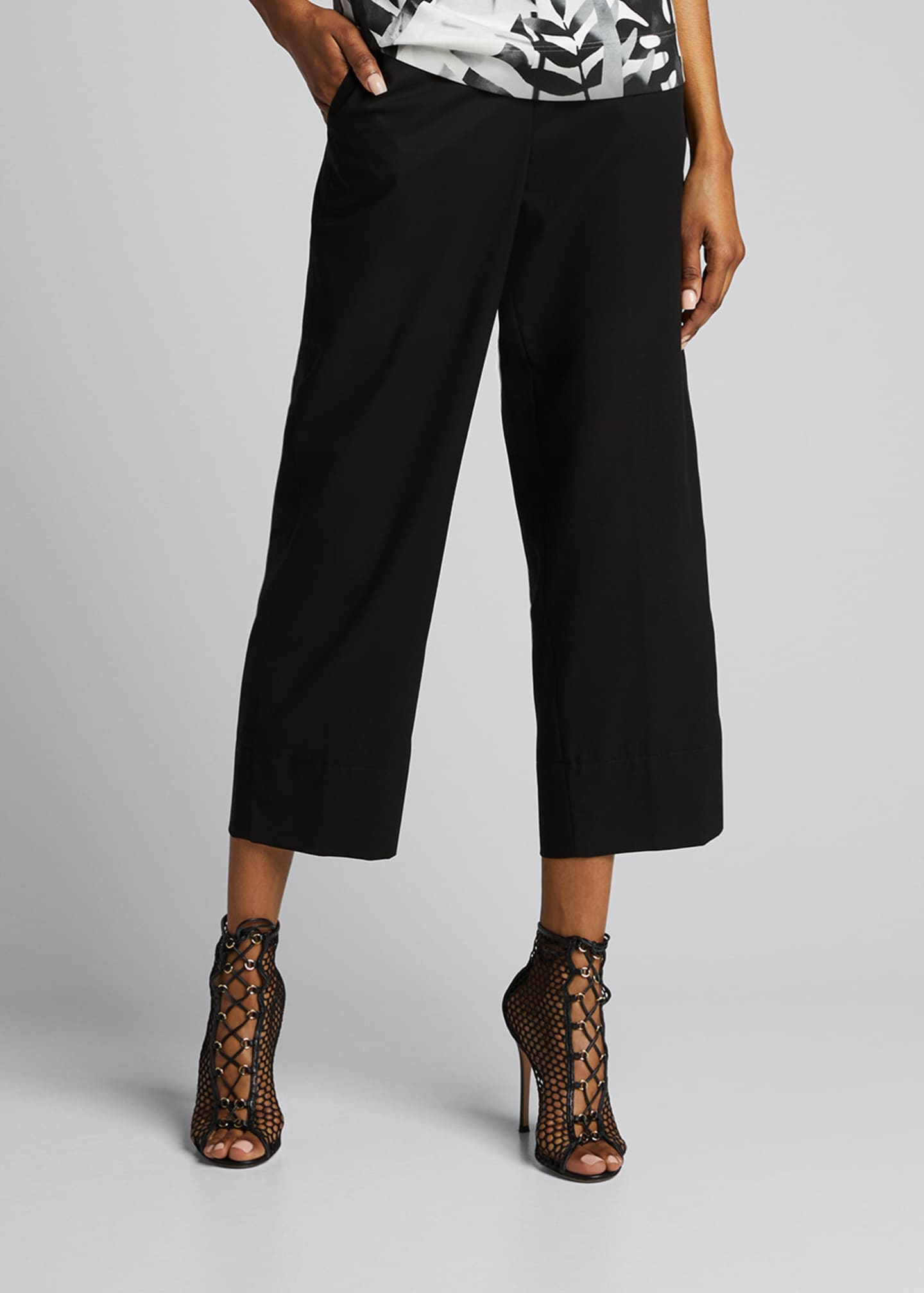Image 1 of 5: Chrissy Cotton-Silk Poplin Pants