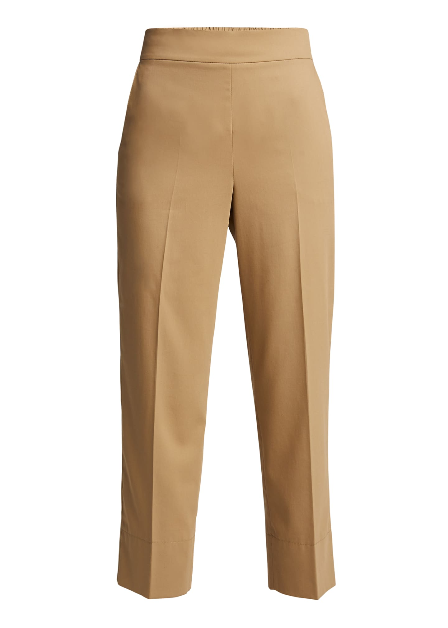 Image 5 of 5: Chrissy Cotton-Silk Poplin Pants