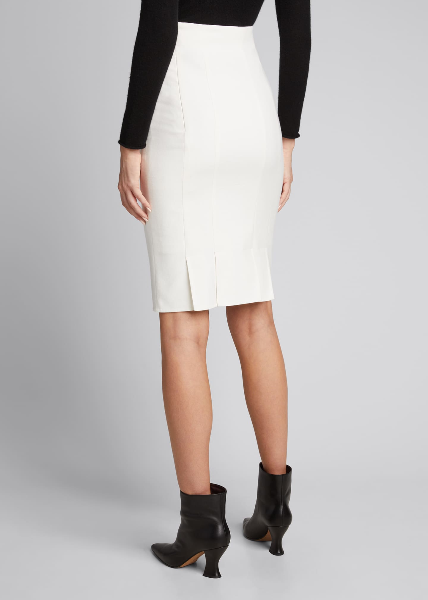 Image 2 of 5: Double-Face Pencil Skirt
