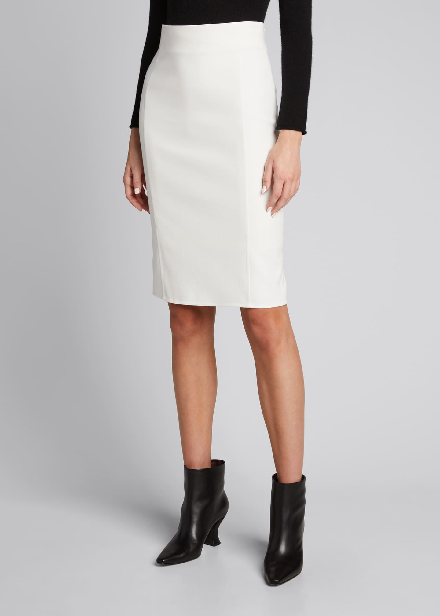 Image 3 of 5: Double-Face Pencil Skirt