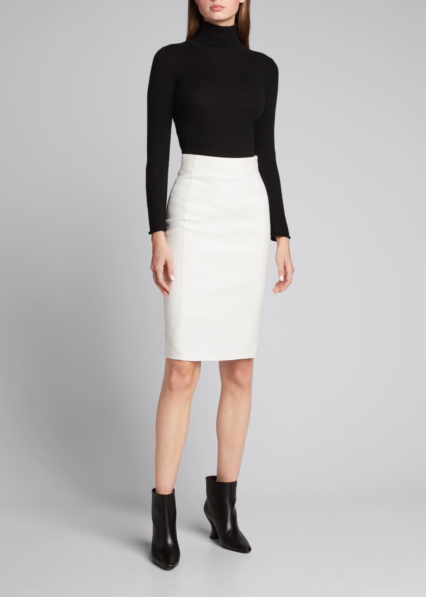 Image 1 of 5: Double-Face Pencil Skirt