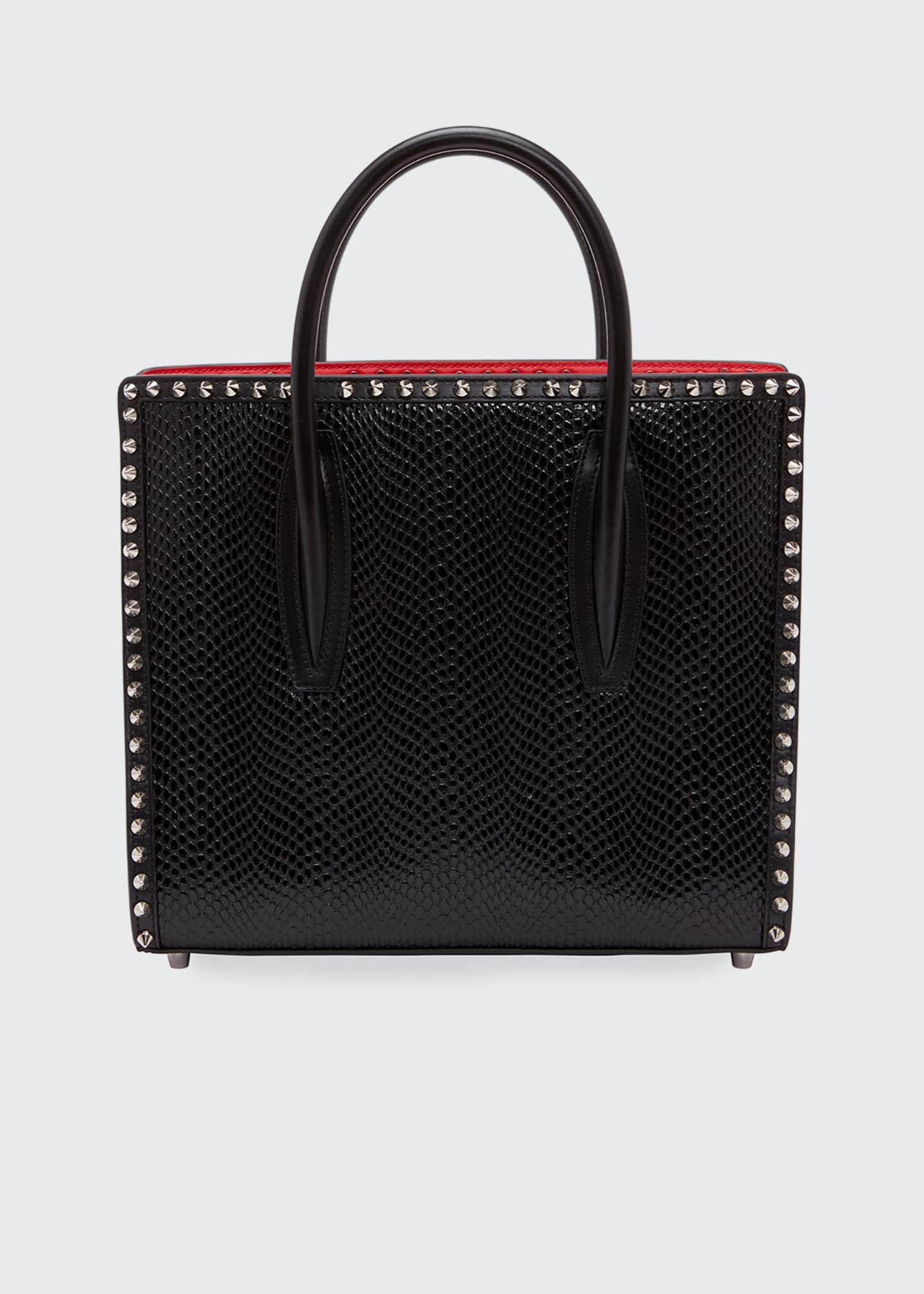 Image 1 of 1: Paloma Small Jurassic Calf Spikes Top-Handle Bag