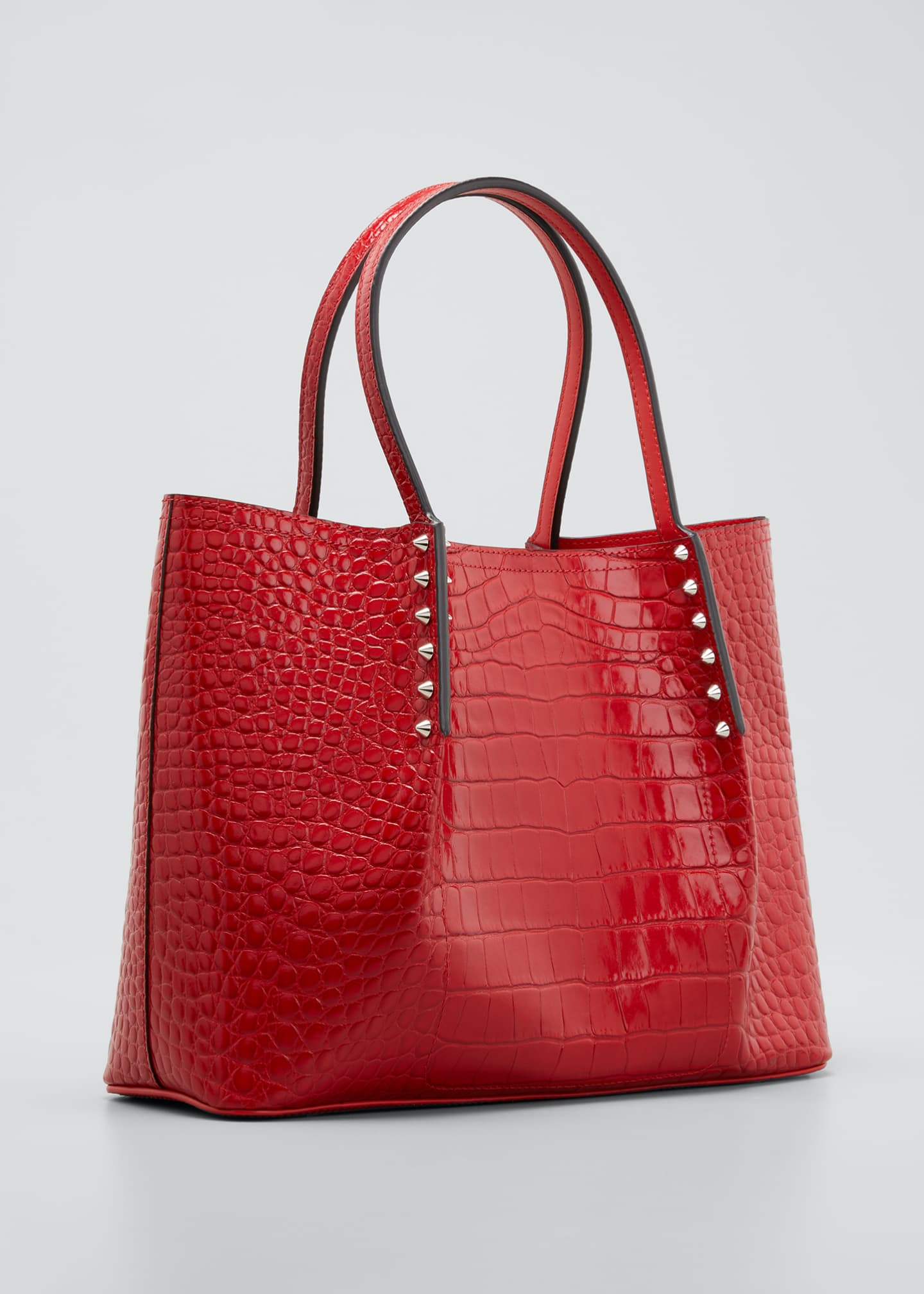 Image 3 of 5: Cabarock Small Mock-Croc Spiked Shopper Tote Bag