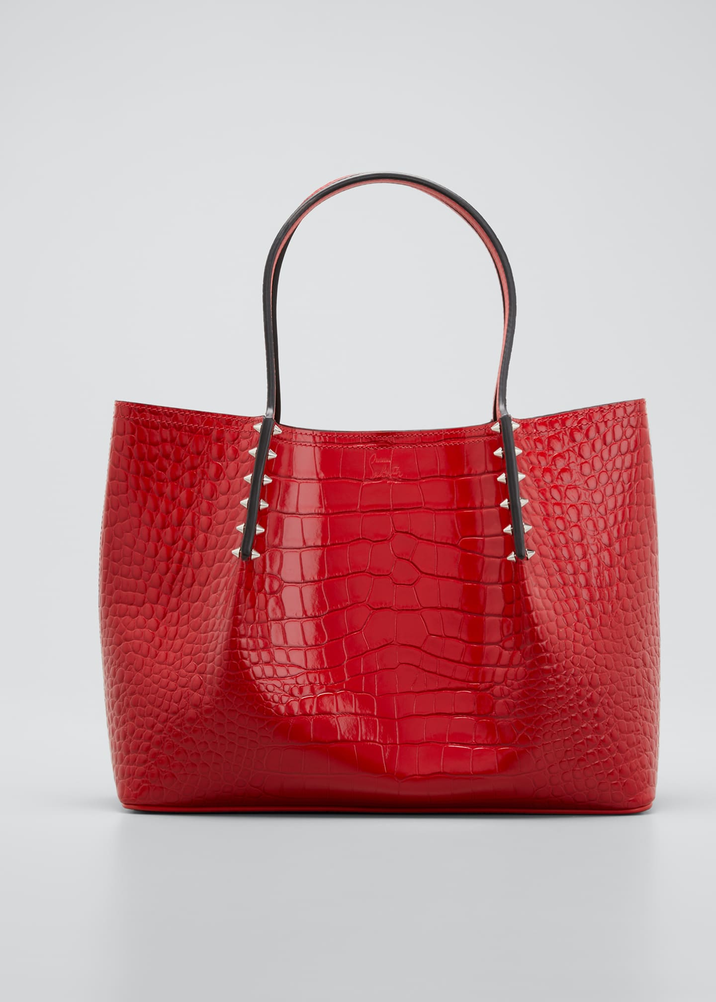 Image 1 of 5: Cabarock Small Mock-Croc Spiked Shopper Tote Bag