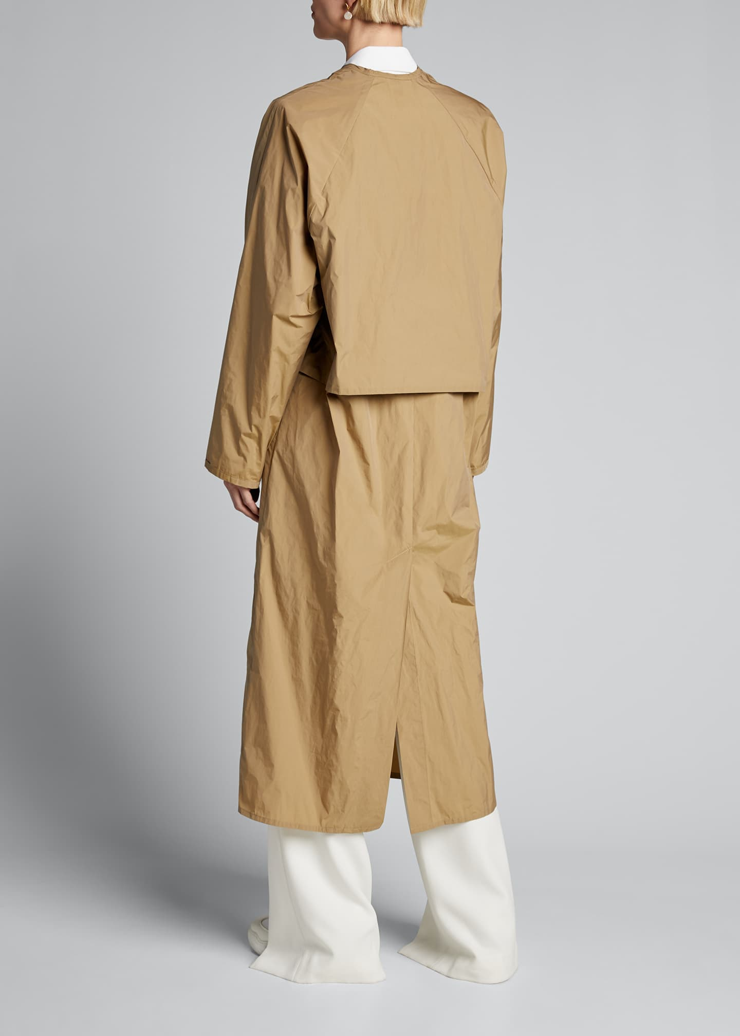 Image 2 of 4: Long V Dress Coat with Belted Waist