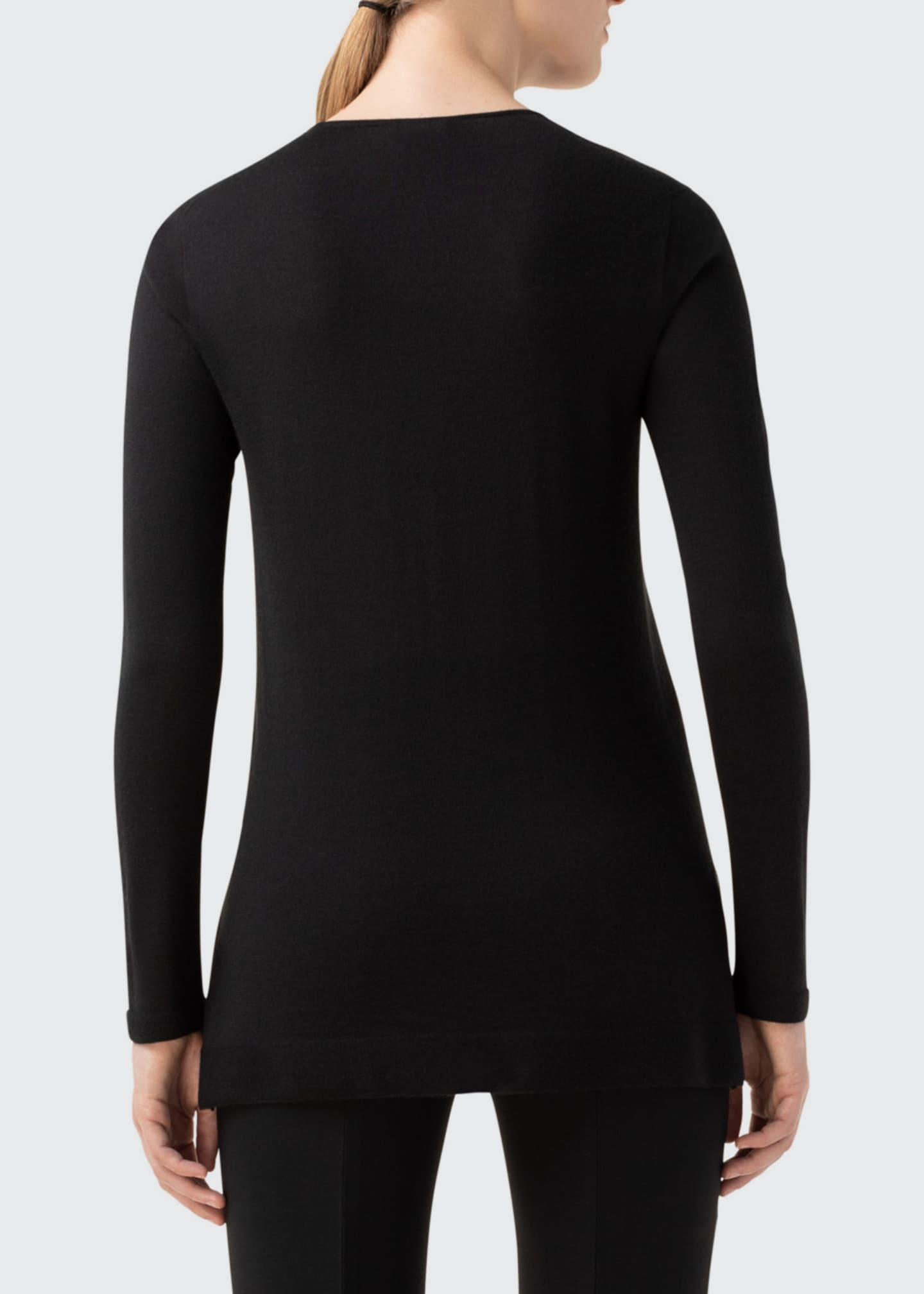 Image 2 of 4: Cashmere-Silk Fine Gauge Sweater