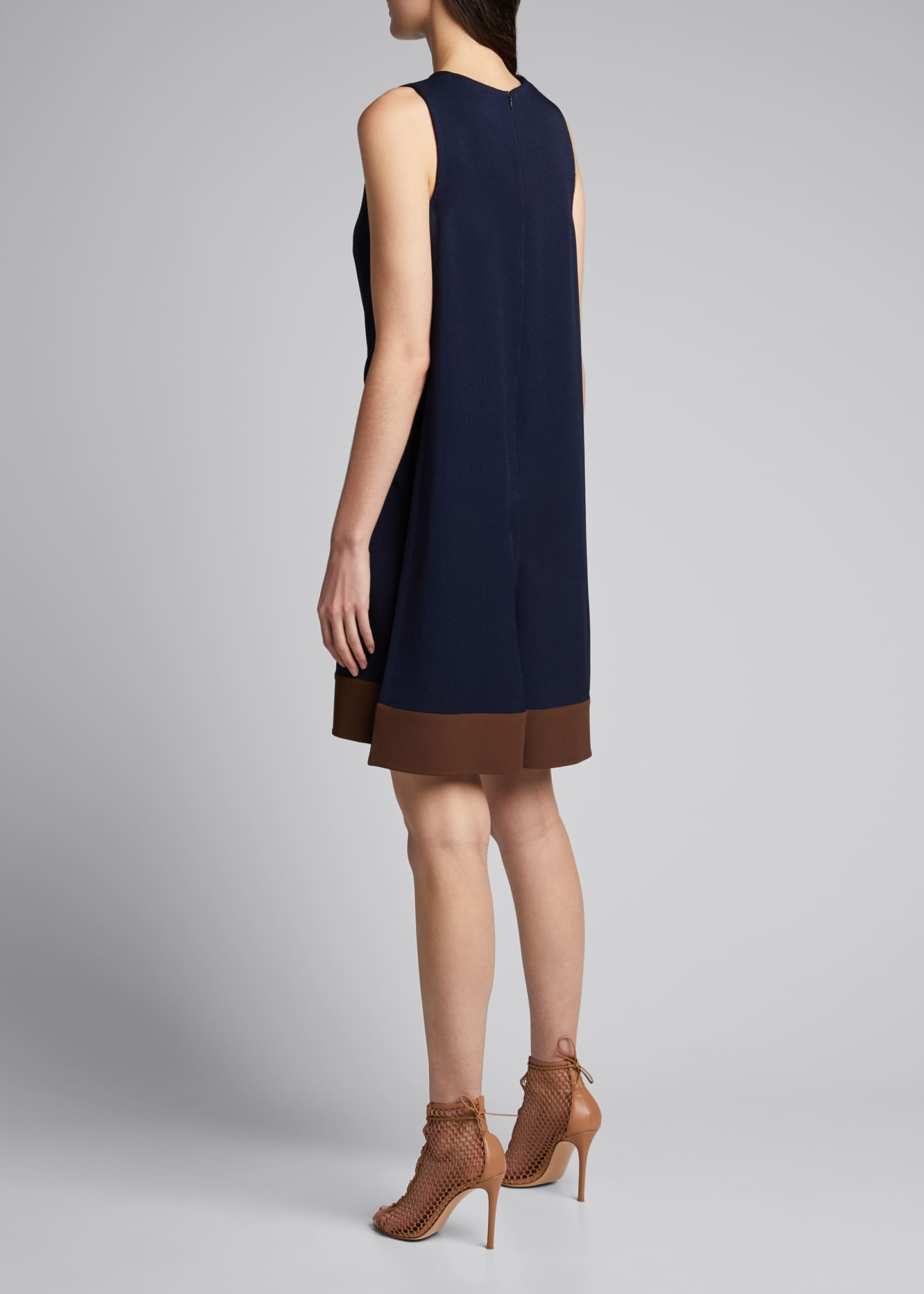 Image 2 of 5: Two-Tone Crepe Dress