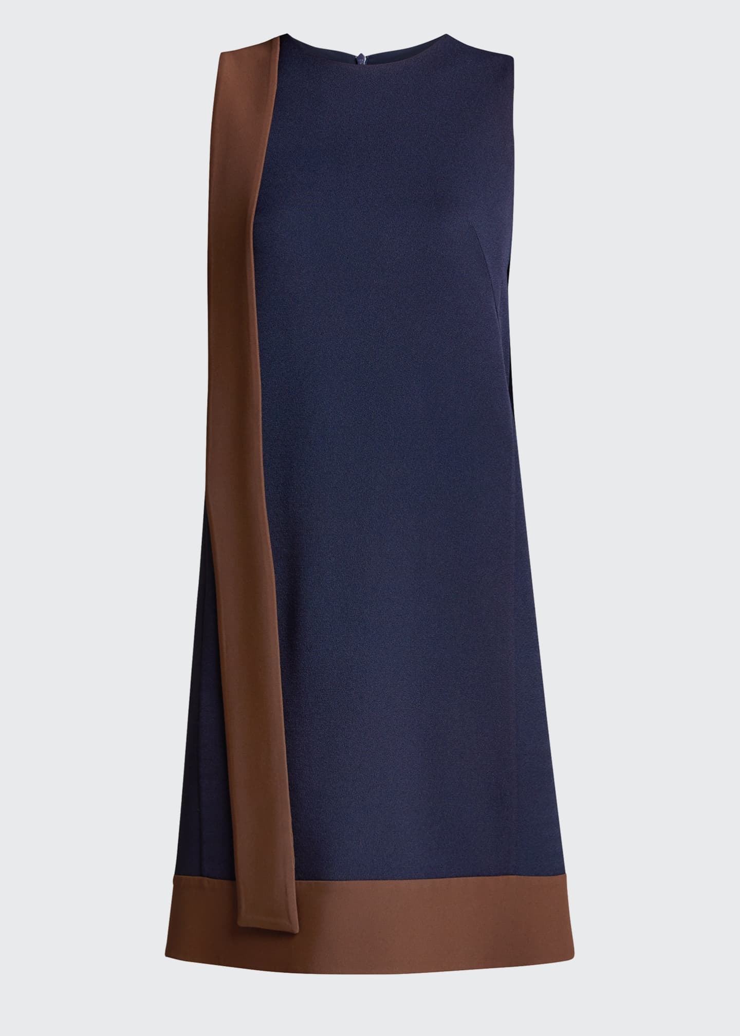 Image 5 of 5: Two-Tone Crepe Dress