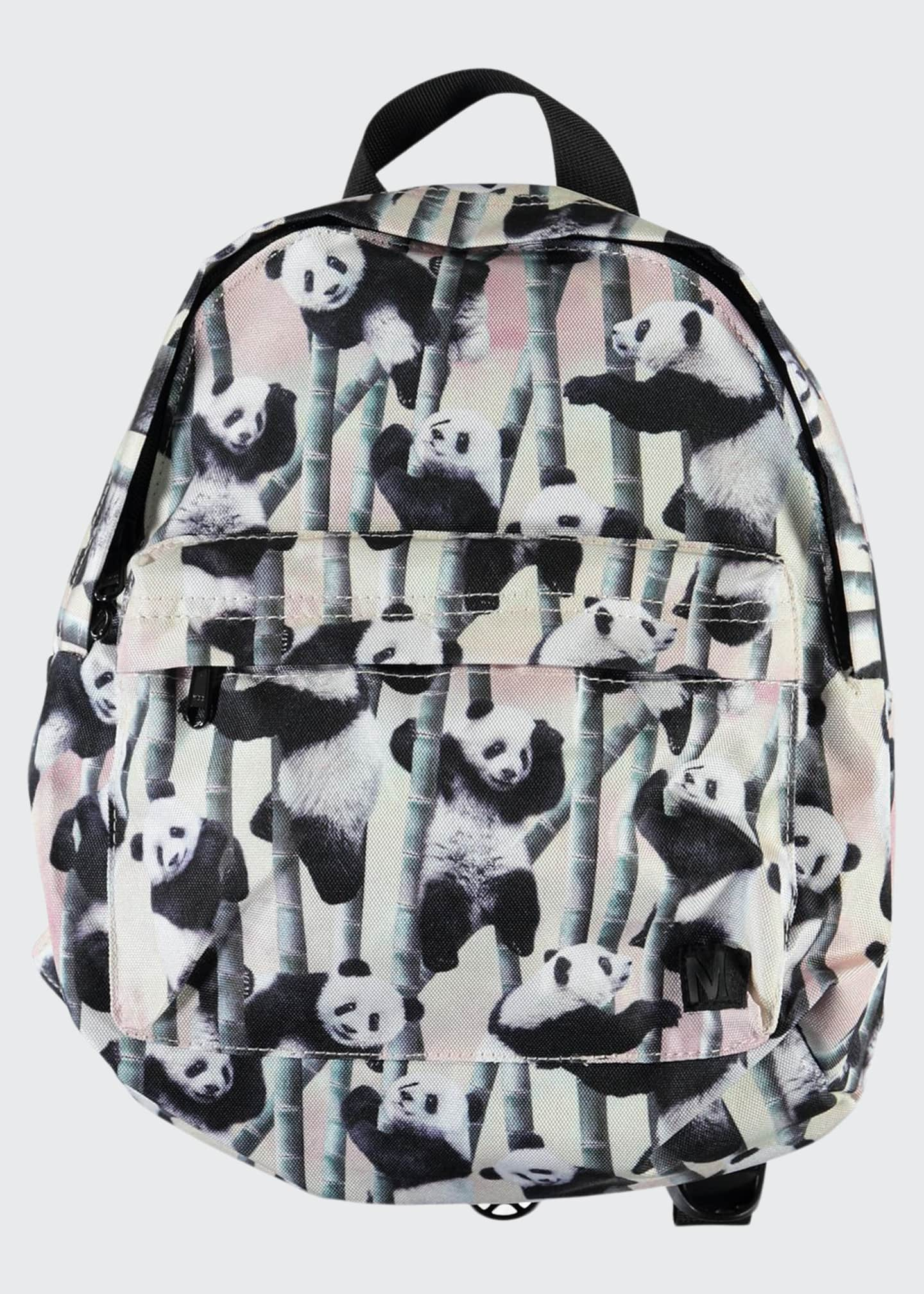 Image 1 of 2: Kid's Panda-Print Small Backpack