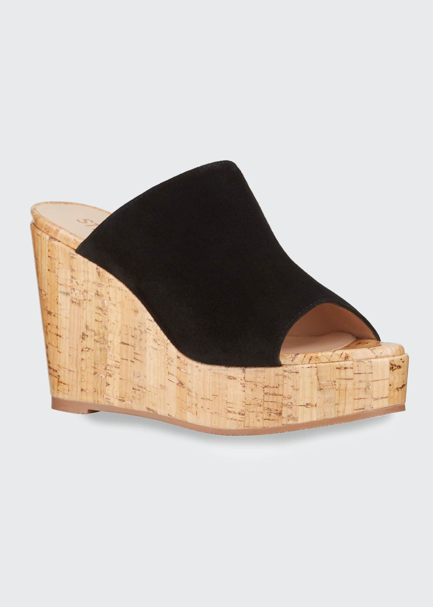 Image 2 of 4: Margarite Suede Wedge Sandals