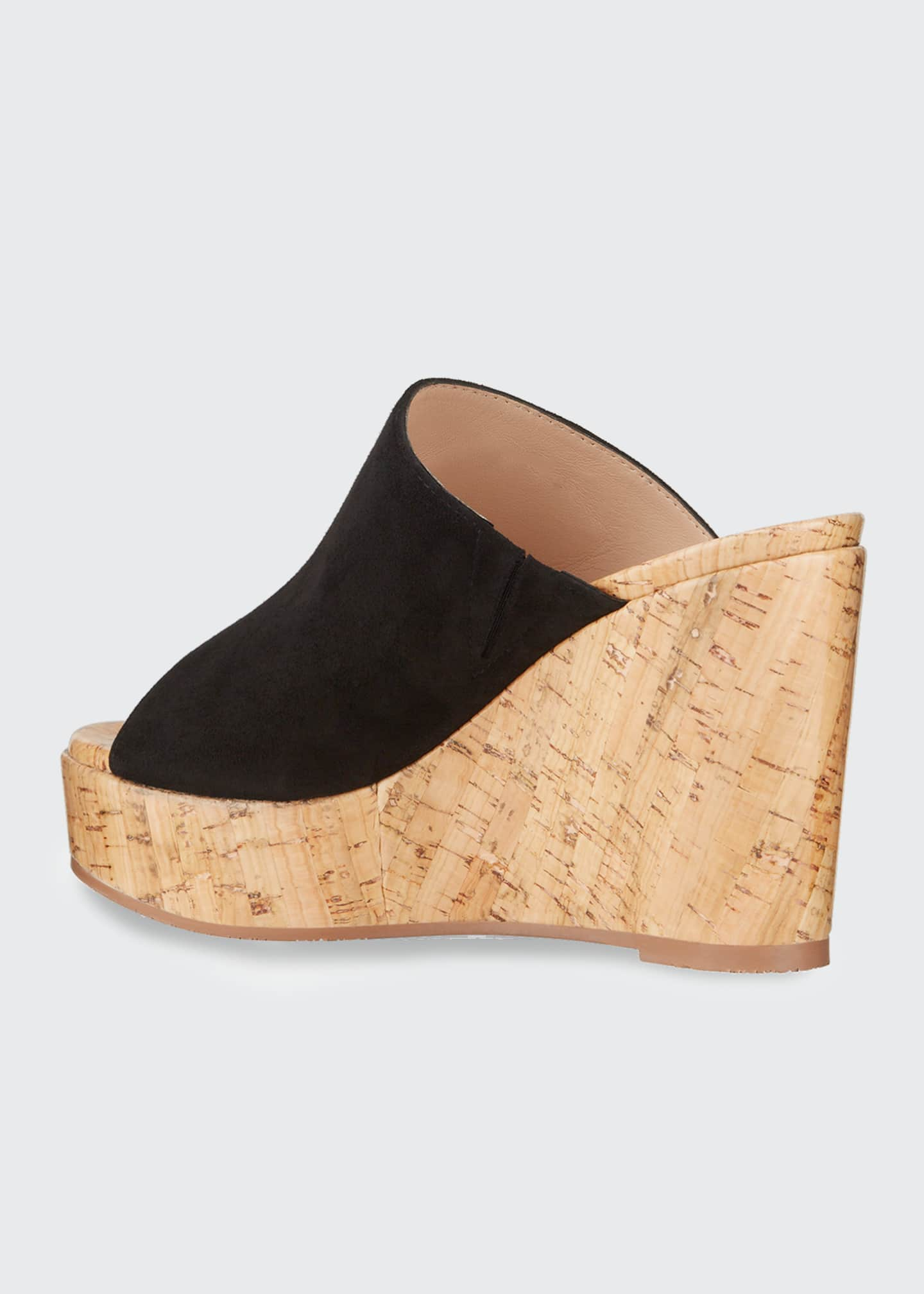 Image 3 of 4: Margarite Suede Wedge Sandals