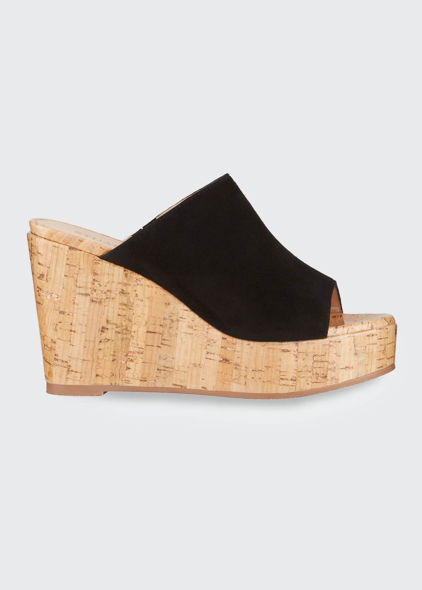 Image 1 of 4: Margarite Suede Wedge Sandals