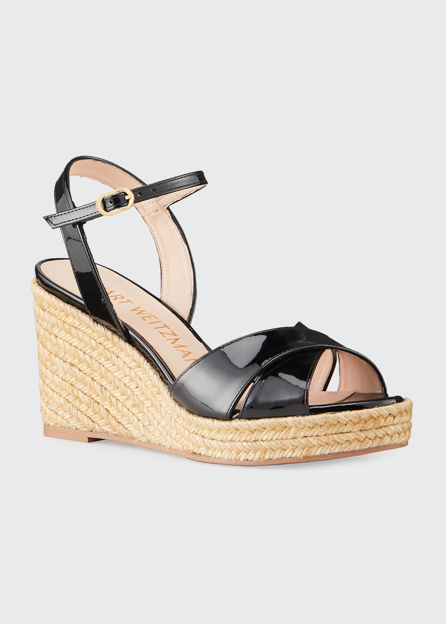 Image 2 of 5: Rosemarie Patent Wedge Espadrille Sandals