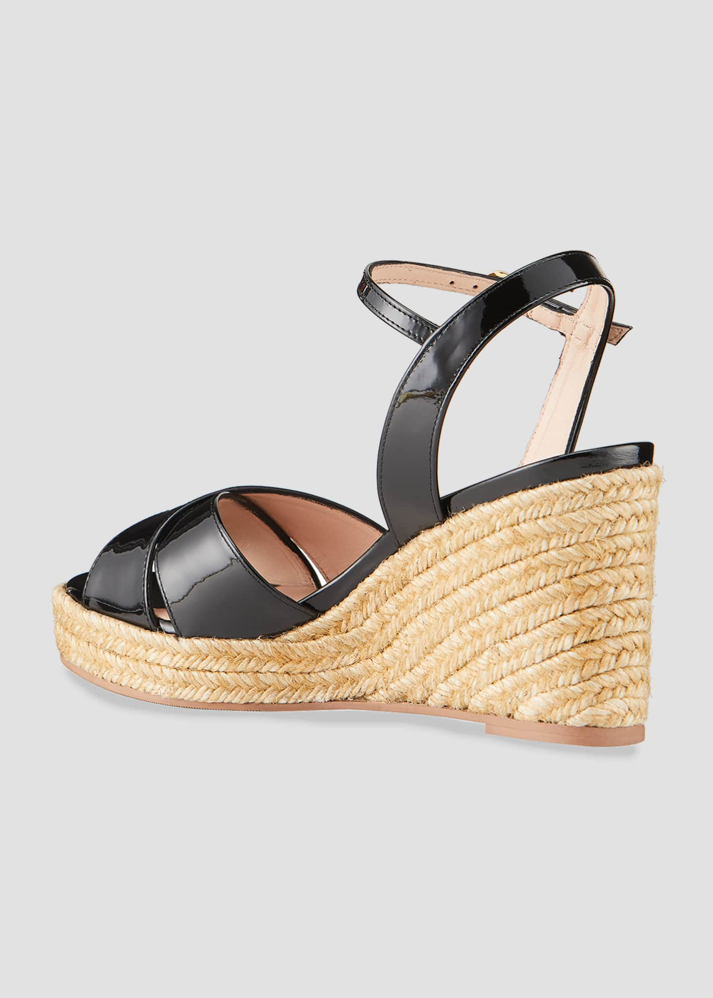 Image 4 of 5: Rosemarie Patent Wedge Espadrille Sandals