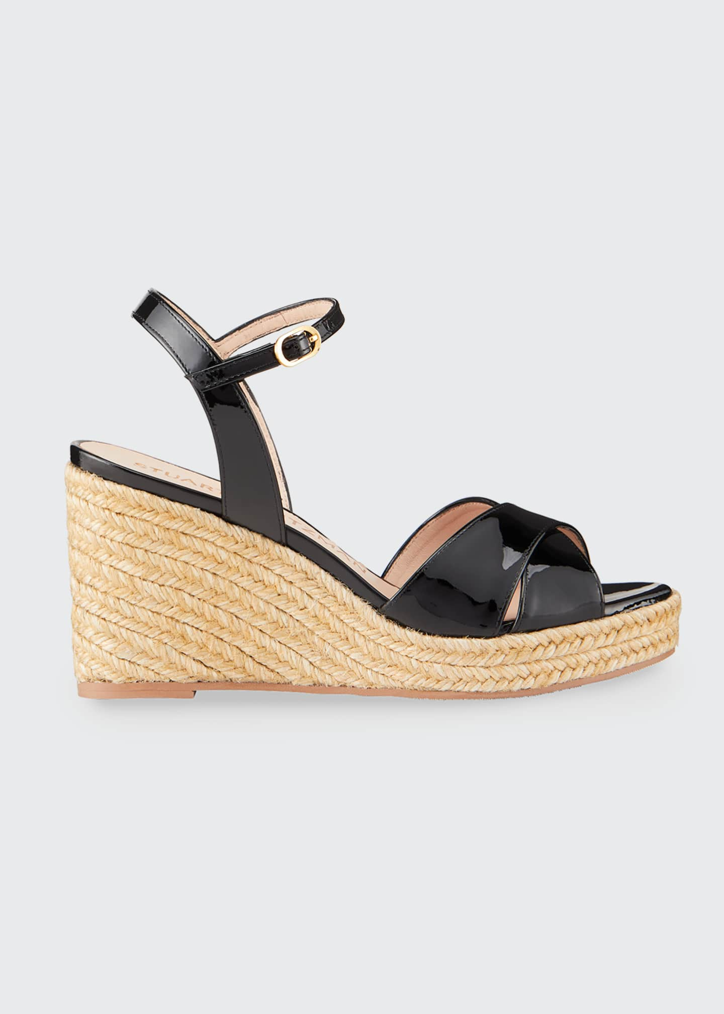 Image 1 of 5: Rosemarie Patent Wedge Espadrille Sandals