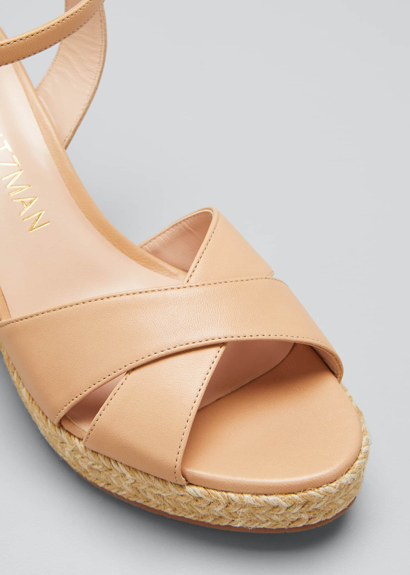 Image 5 of 5: Rosemarie Patent Wedge Espadrille Sandals