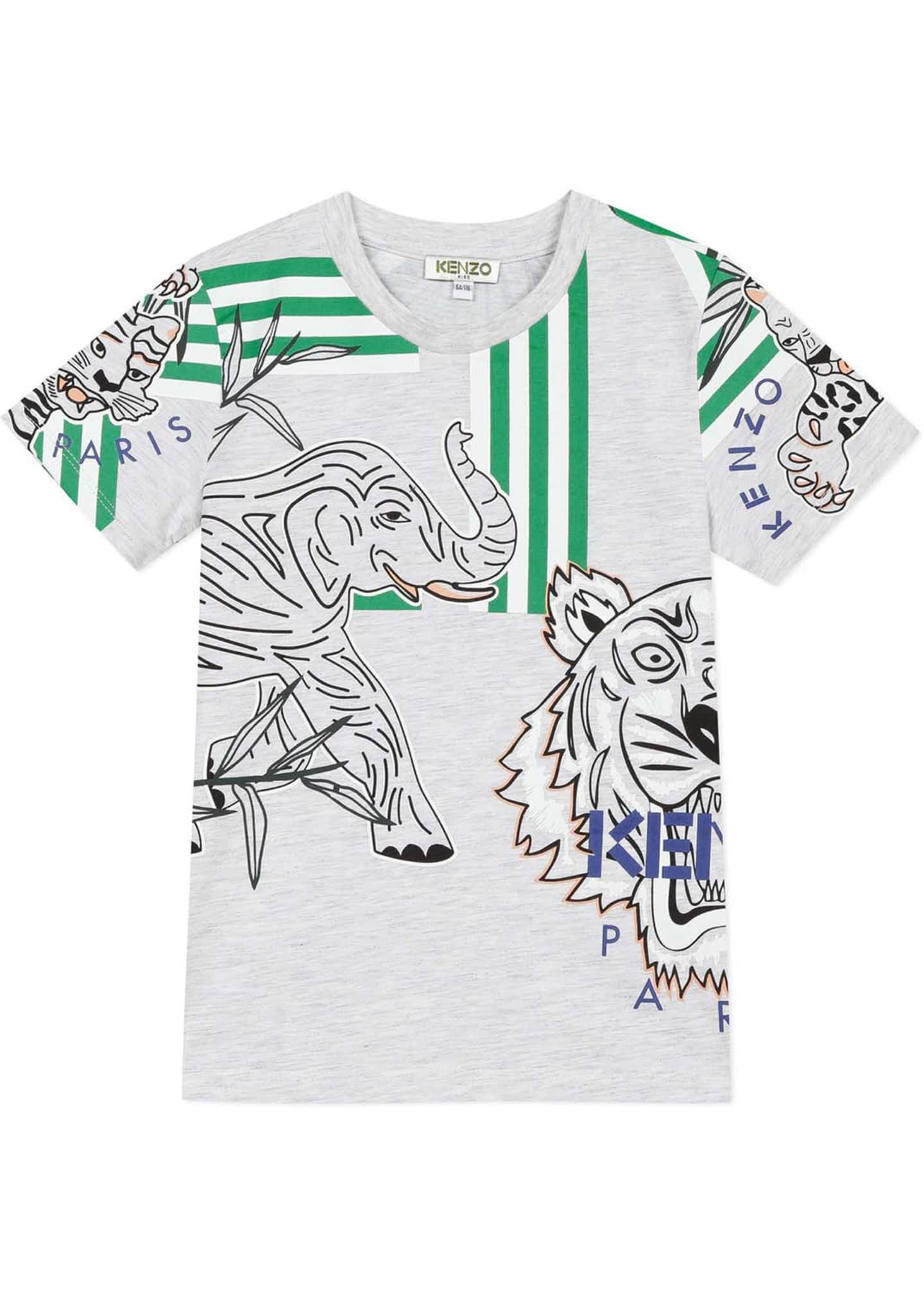 Image 1 of 2: Boy's Multi Icon Graphic T-Shirt, Size 2-6