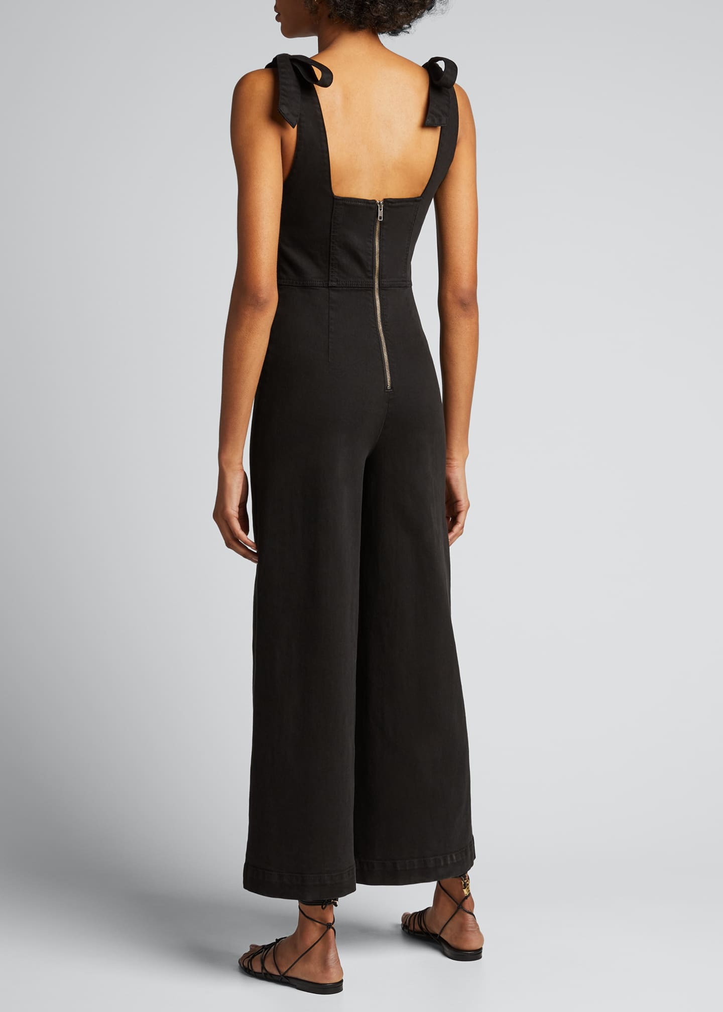 Image 2 of 5: Kinley Tie-Shoulder Gaucho Jumpsuit