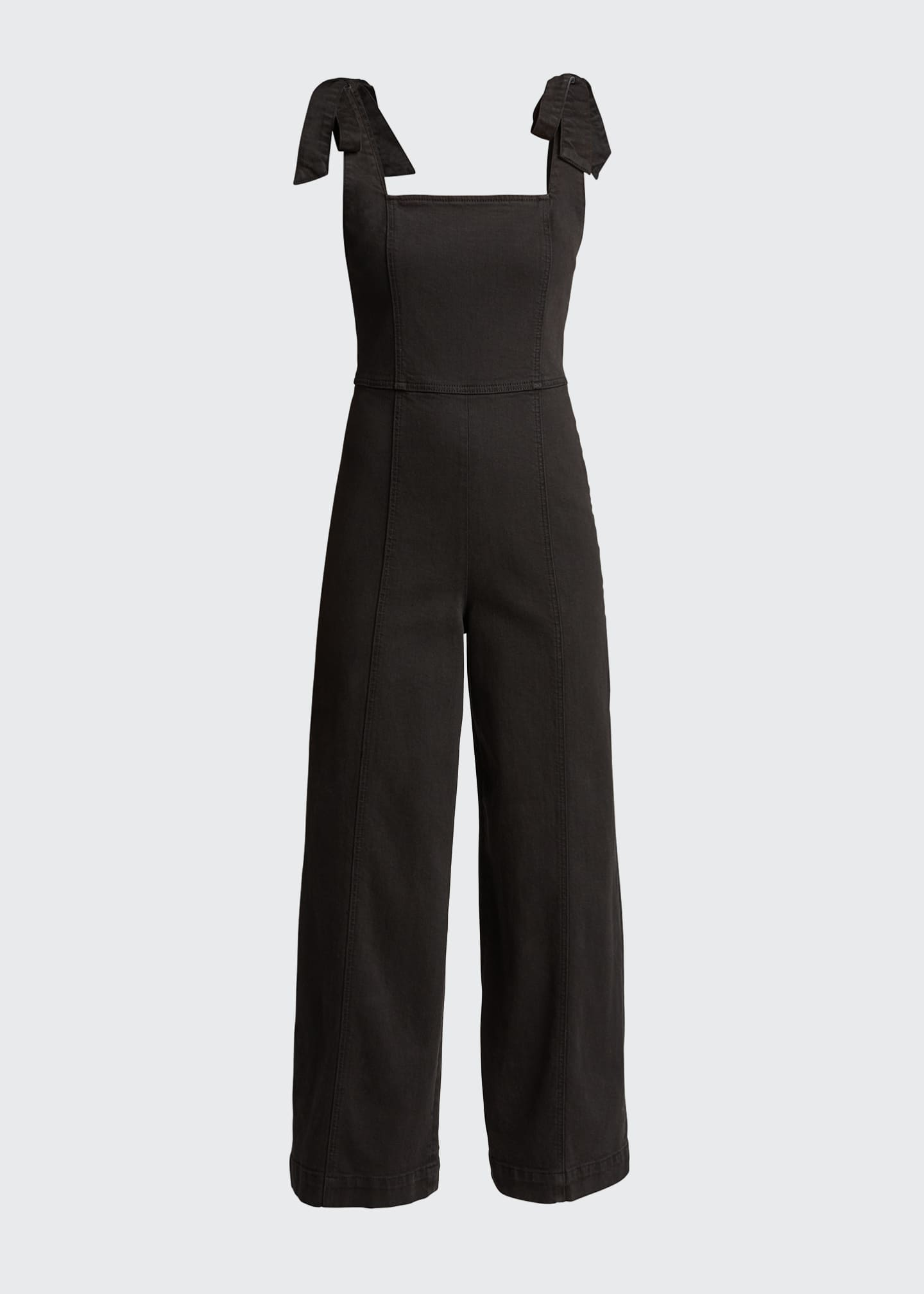 Image 5 of 5: Kinley Tie-Shoulder Gaucho Jumpsuit