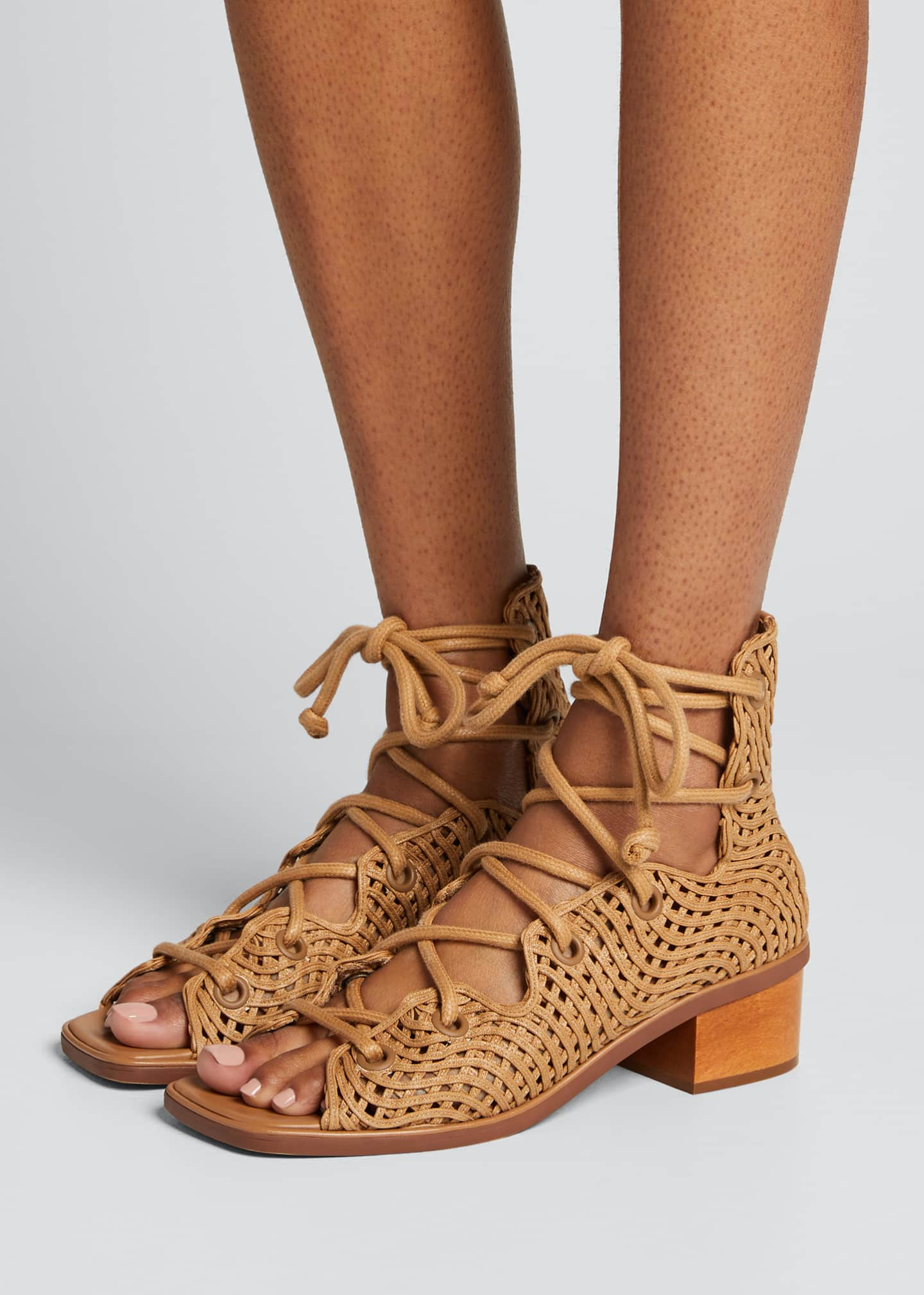 Image 2 of 5: Maia Woven Gladiator Sandals