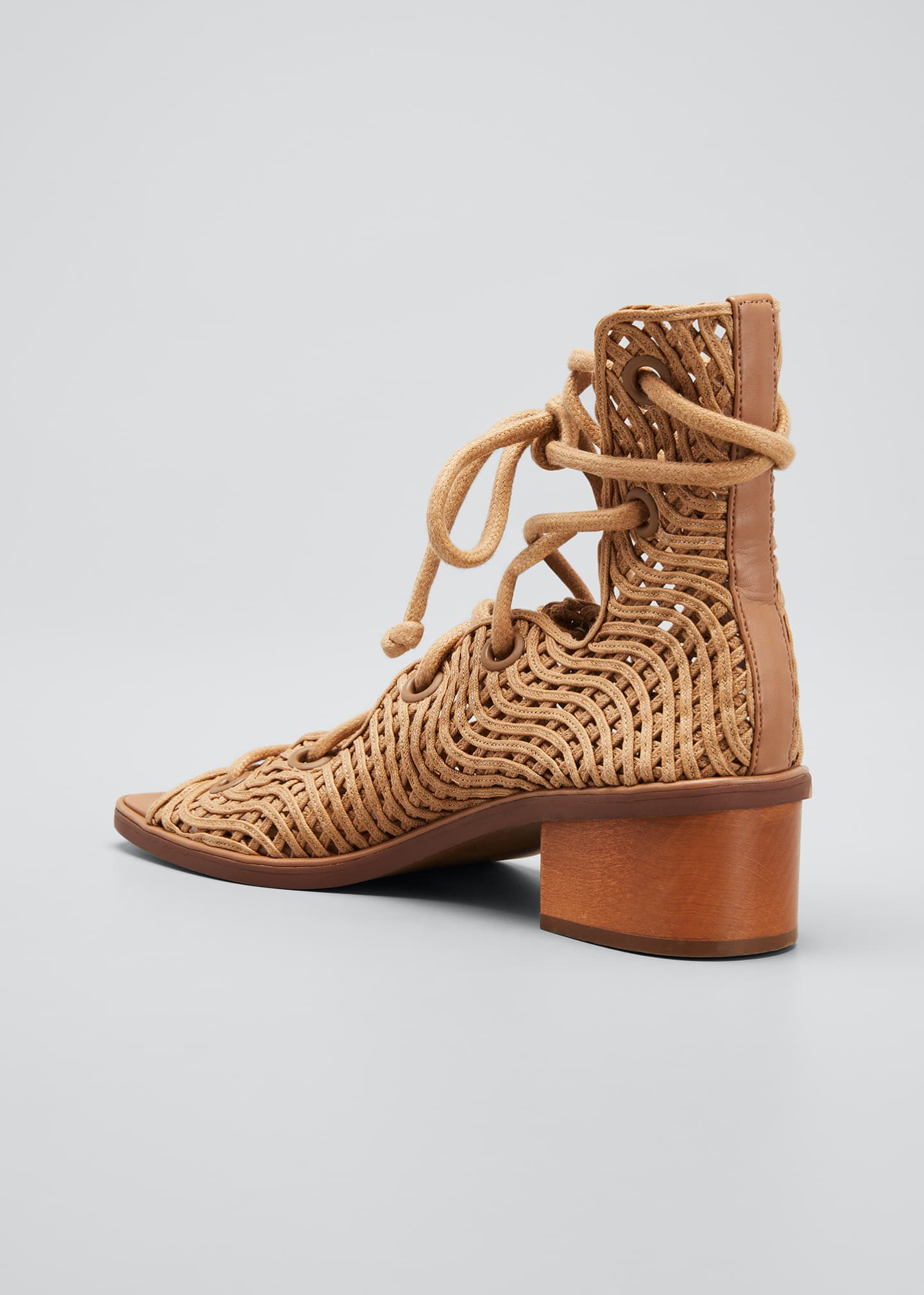 Image 4 of 5: Maia Woven Gladiator Sandals