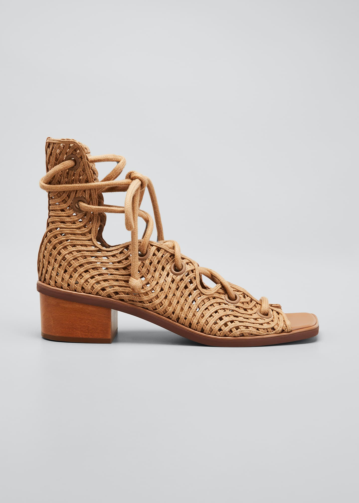 Image 1 of 5: Maia Woven Gladiator Sandals