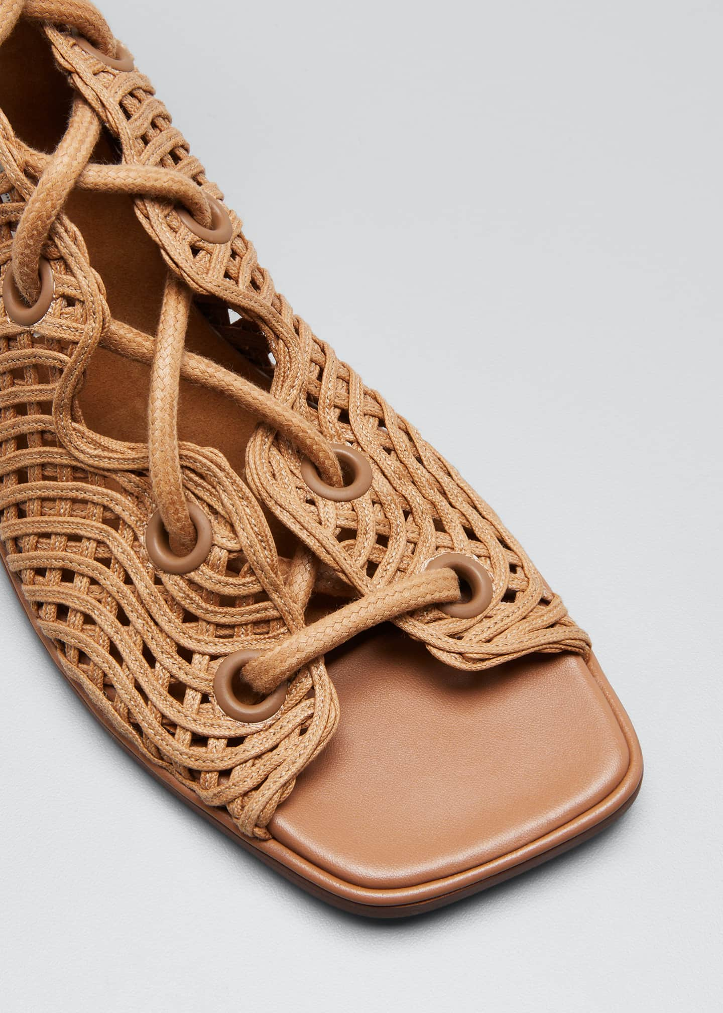 Image 5 of 5: Maia Woven Gladiator Sandals