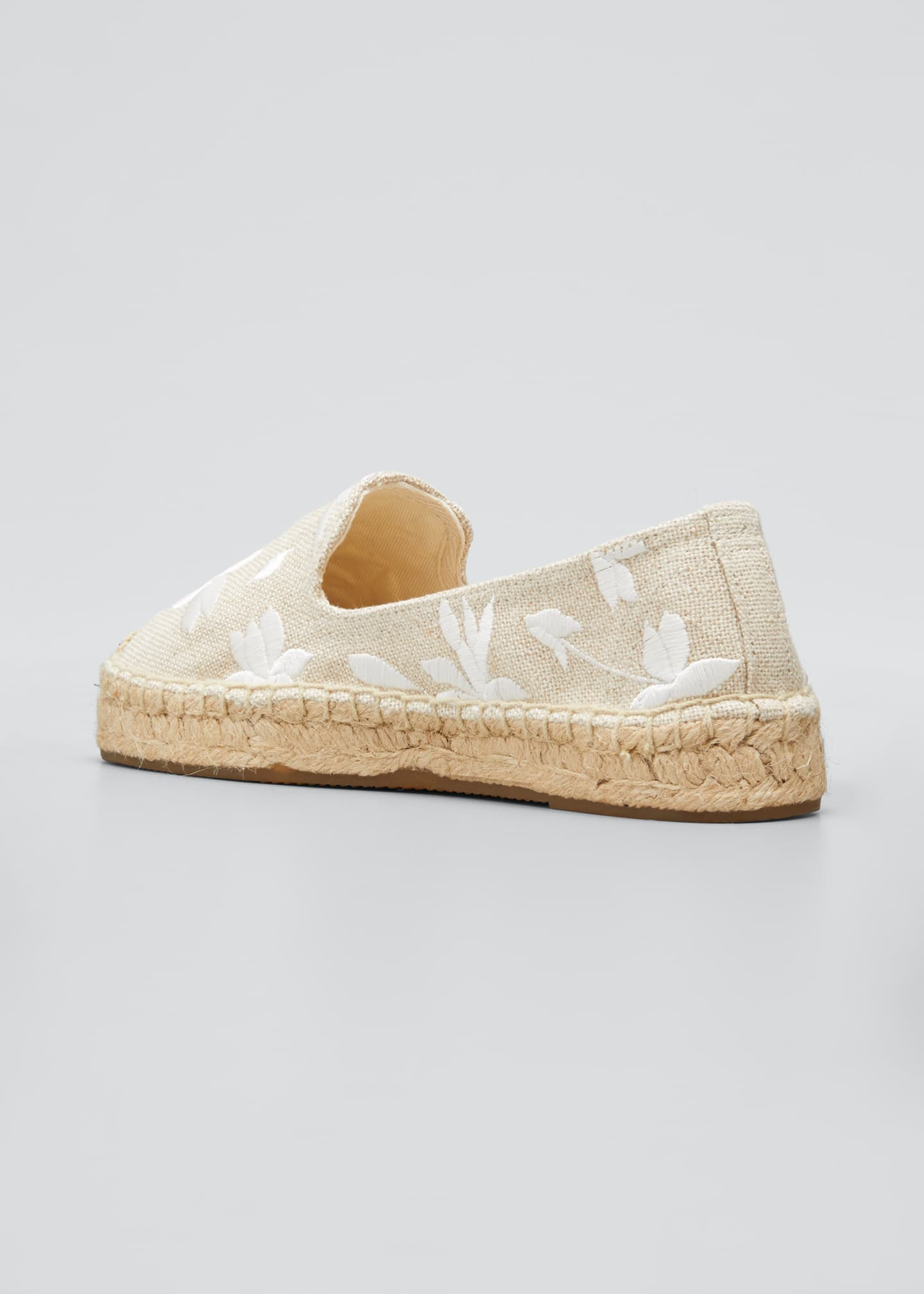 Image 2 of 3: Shiloh Floral Embroidered Espadrilles