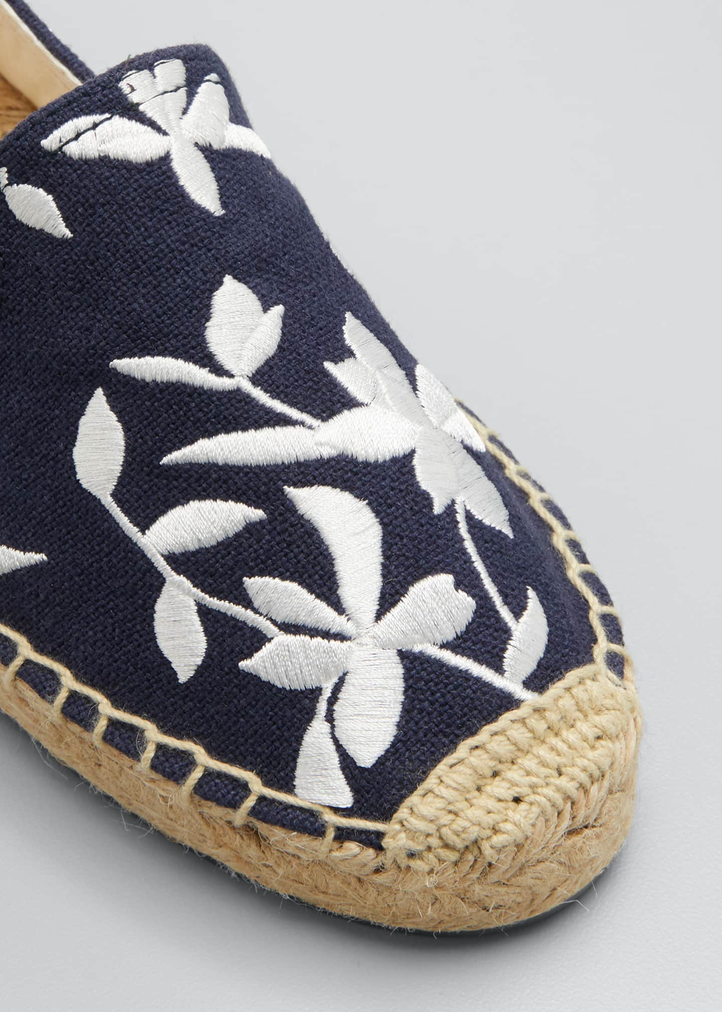 Image 3 of 3: Shiloh Floral Embroidered Espadrilles