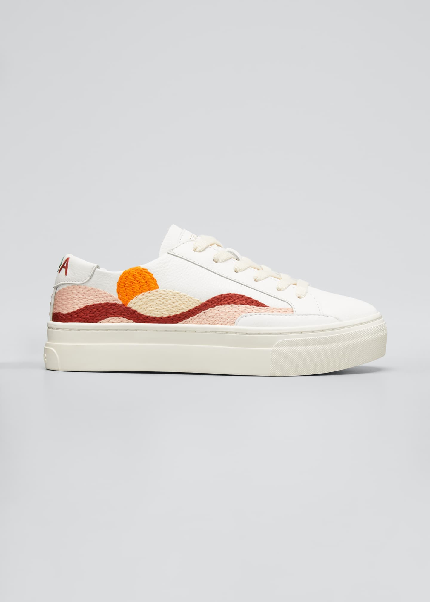 Image 1 of 3: Hawaiian Fauna Embroidered Low-Top Sneakers