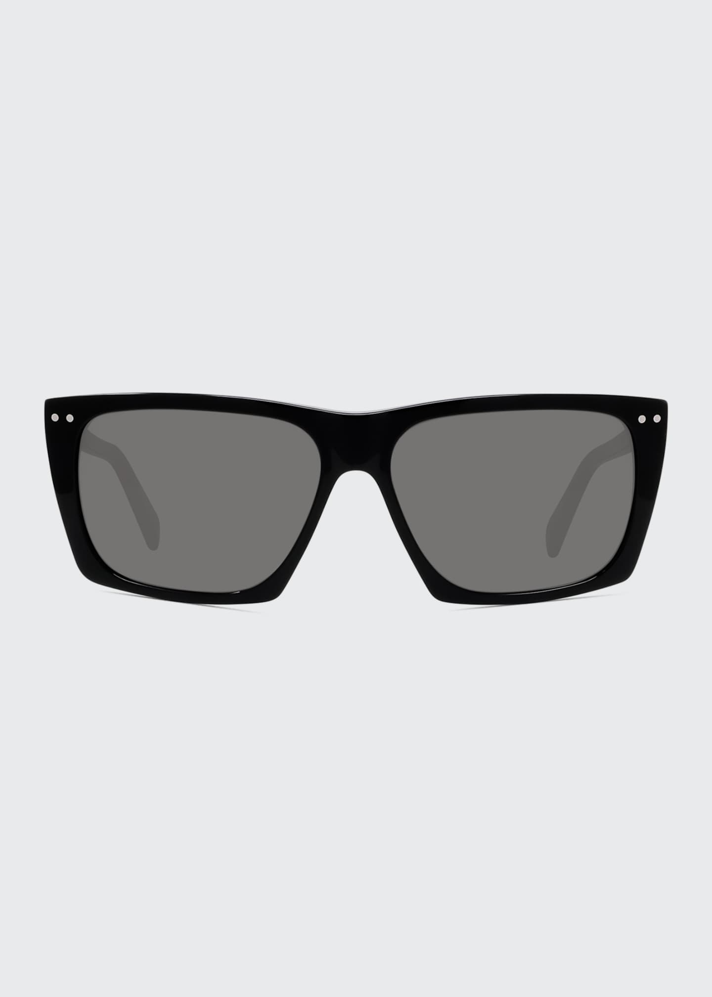 Image 2 of 4: Oversized Square Acetate International-Fit Sunglasses