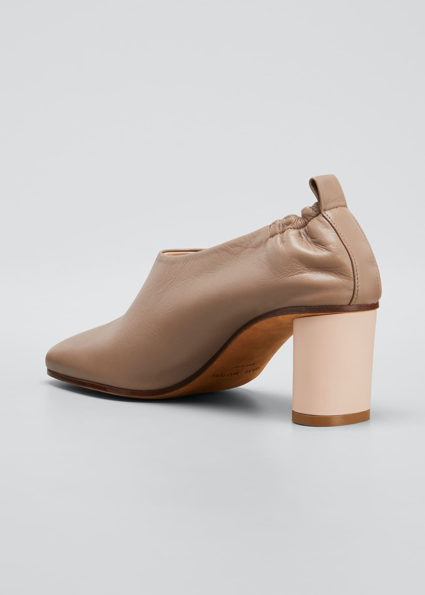 Image 2 of 3: Micol Soft Leather Ankle booties