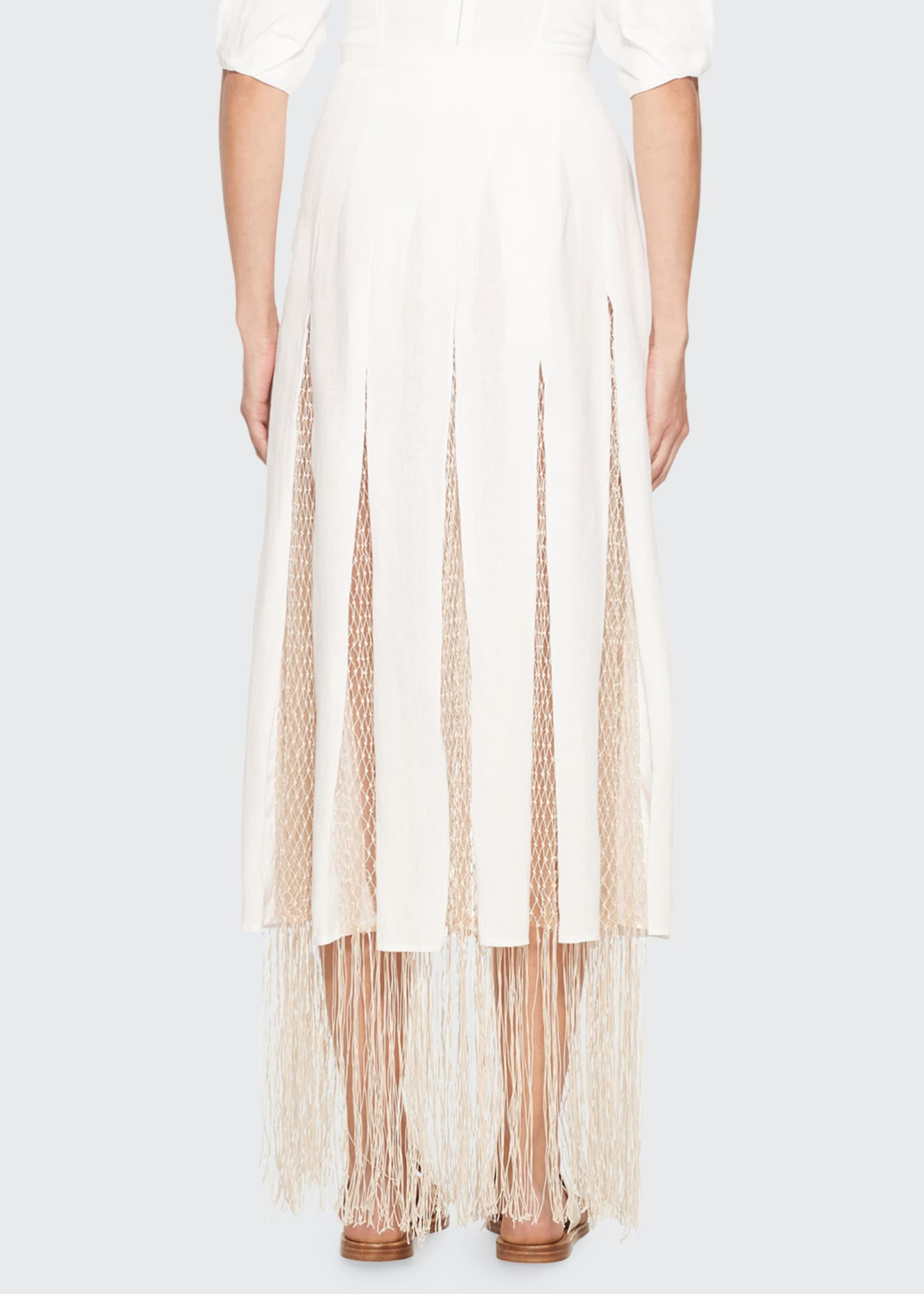 Image 2 of 3: Harmonia Skirt with Silk Macrame