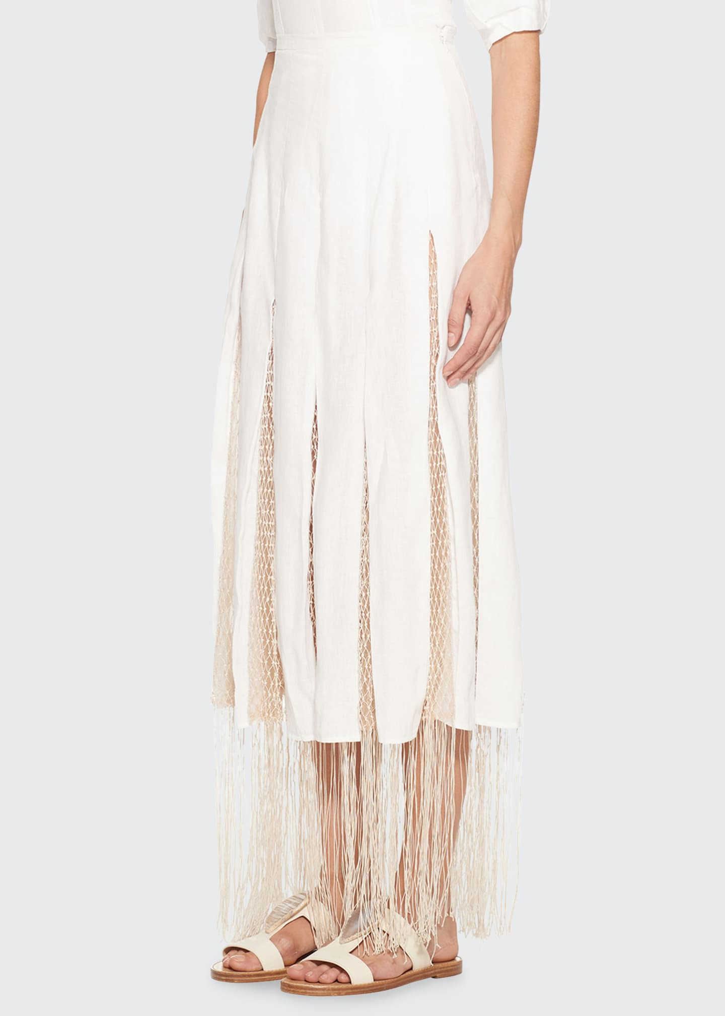 Image 3 of 3: Harmonia Skirt with Silk Macrame
