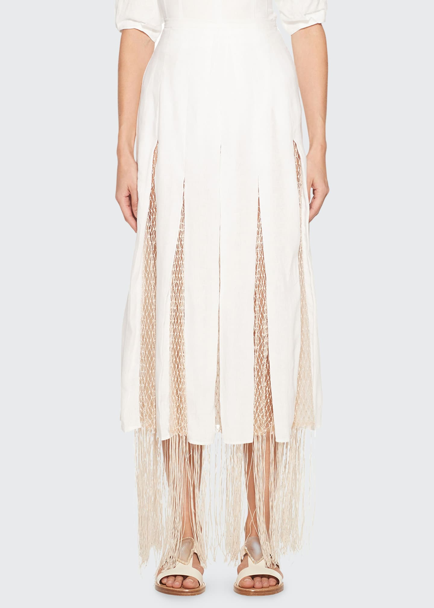 Image 1 of 3: Harmonia Skirt with Silk Macrame