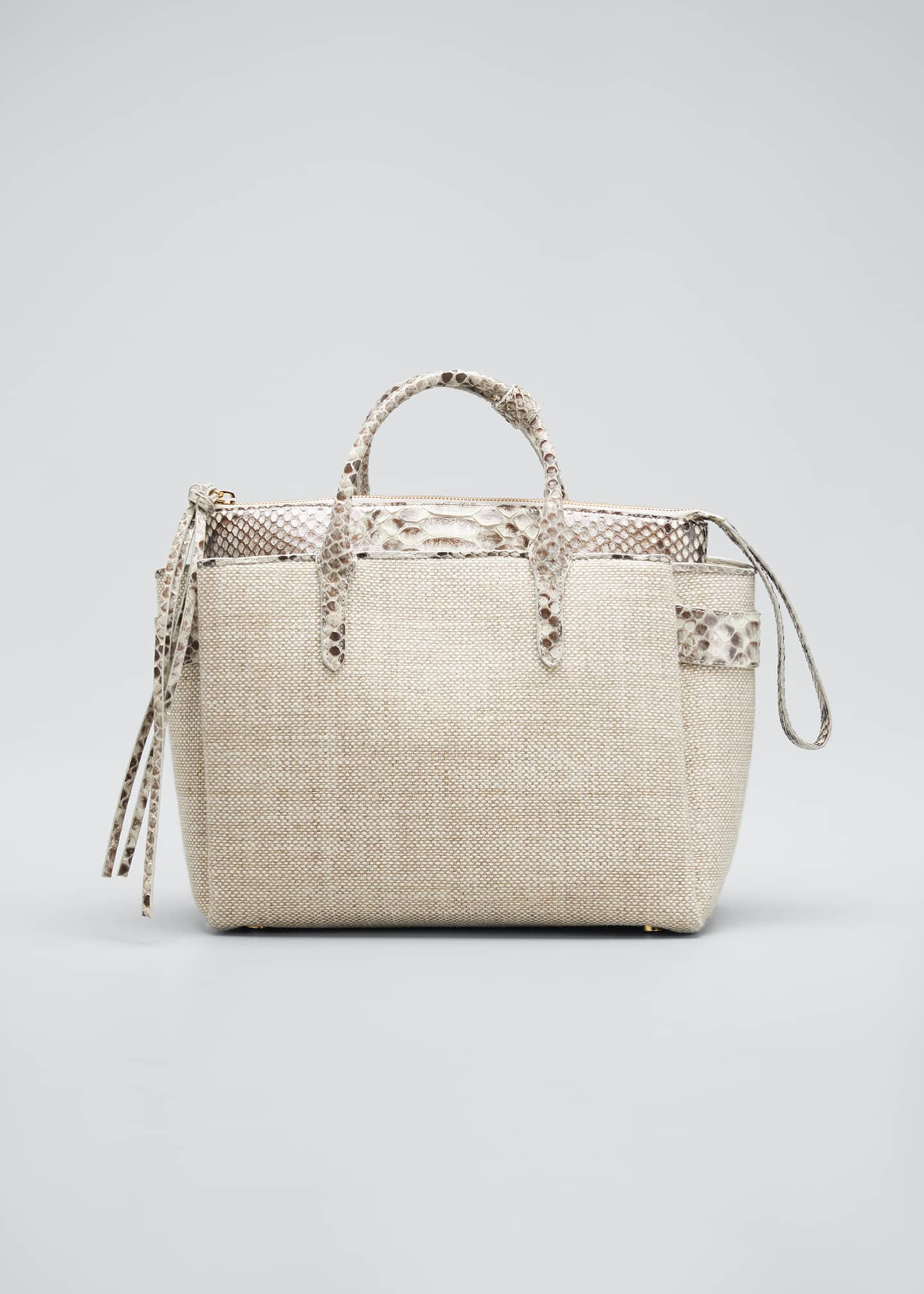 Nancy Gonzalez Cristie Medium Python & Linen Tote