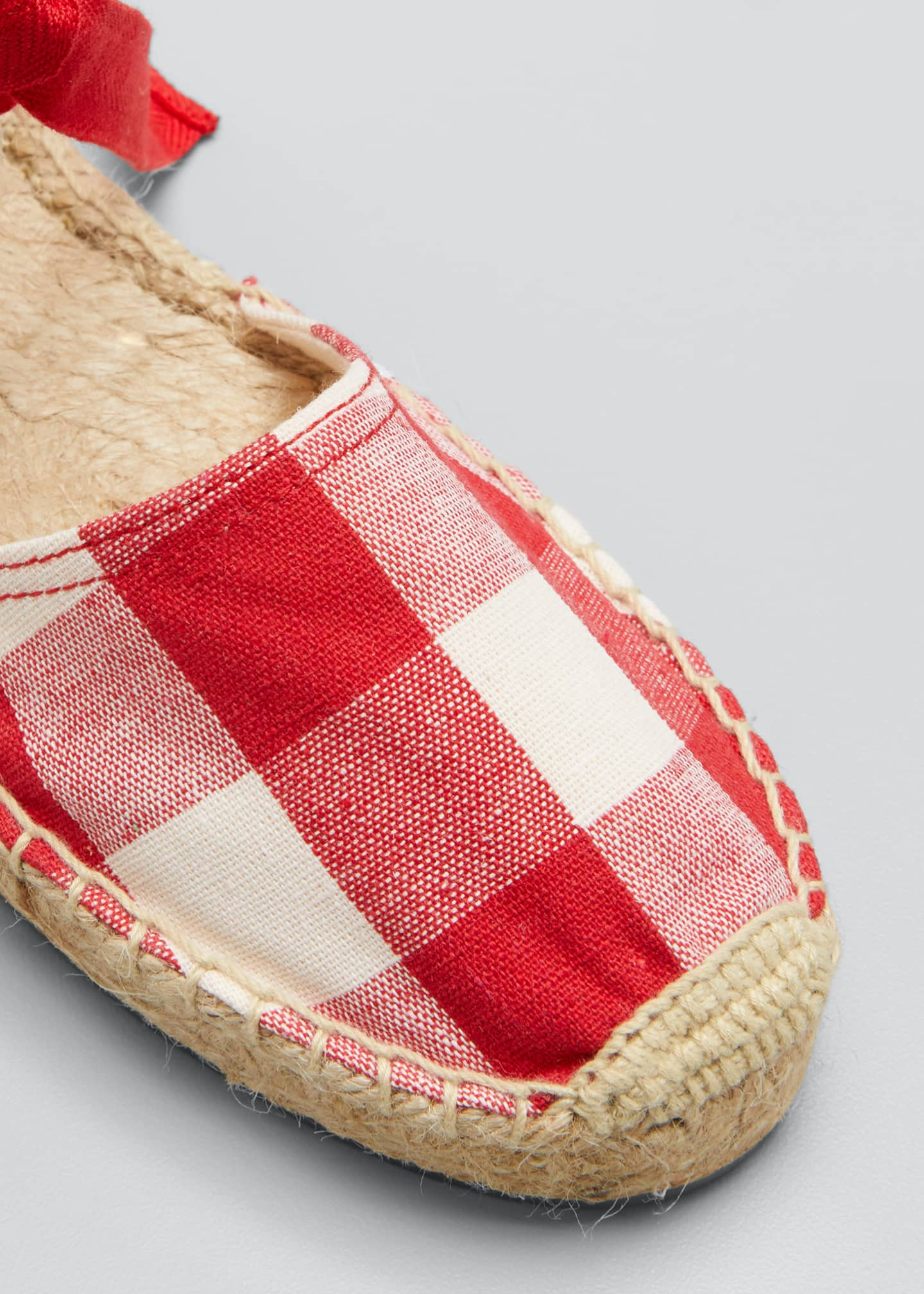 Image 3 of 3: Lauren Gingham Ankle-Wrap Espadrille Sandals