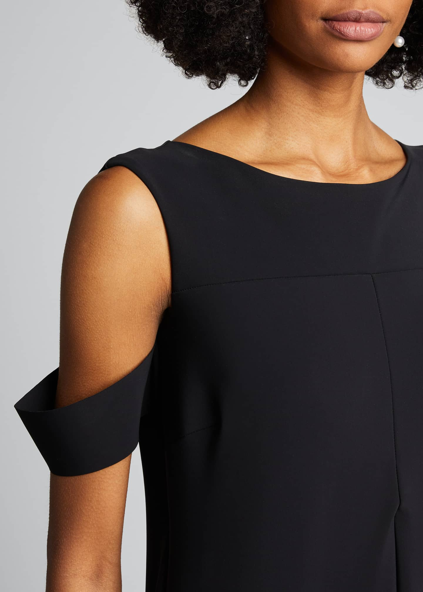 Image 4 of 5: Cold-Shoulder Cocktail Dress