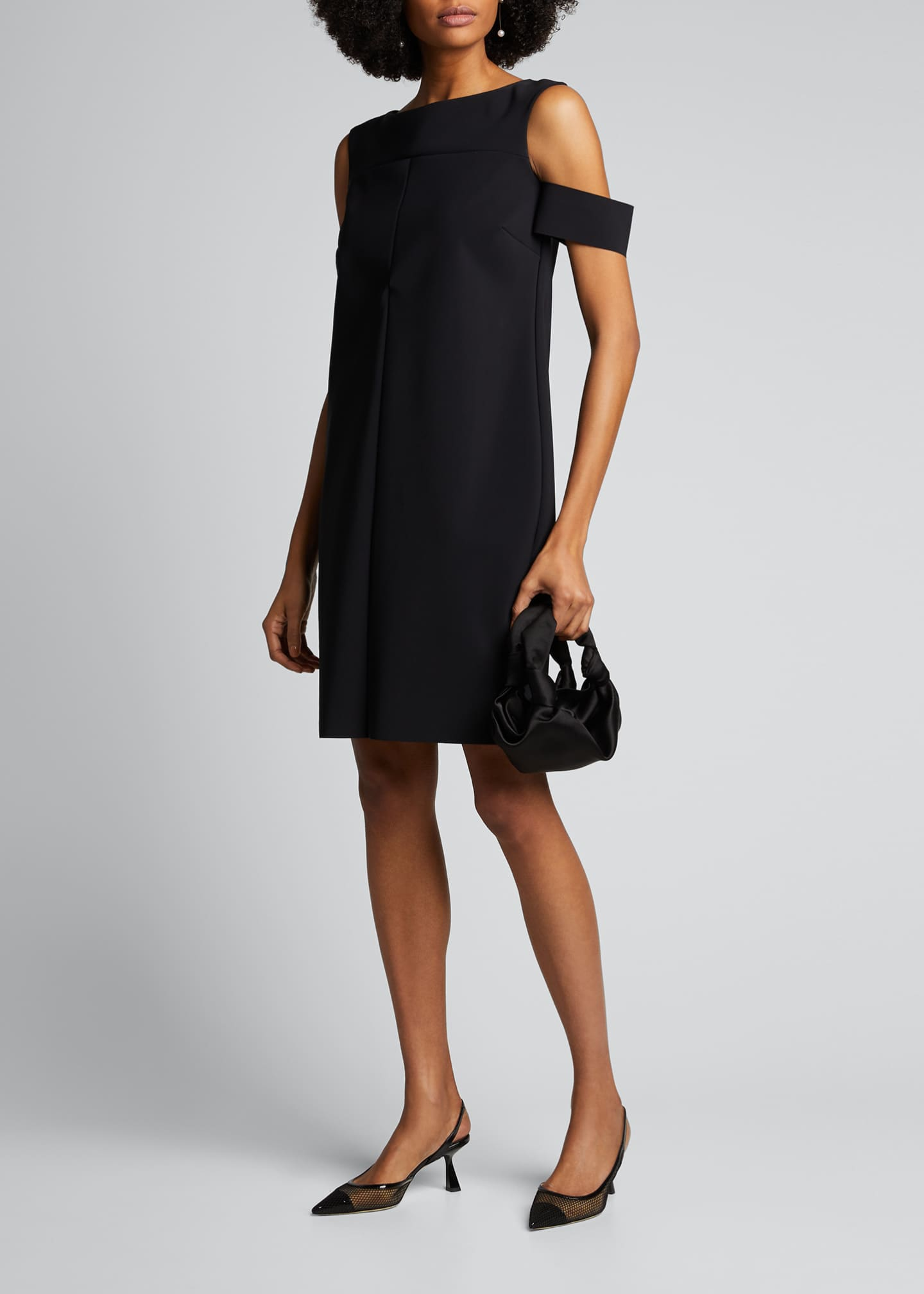 Image 1 of 5: Cold-Shoulder Cocktail Dress