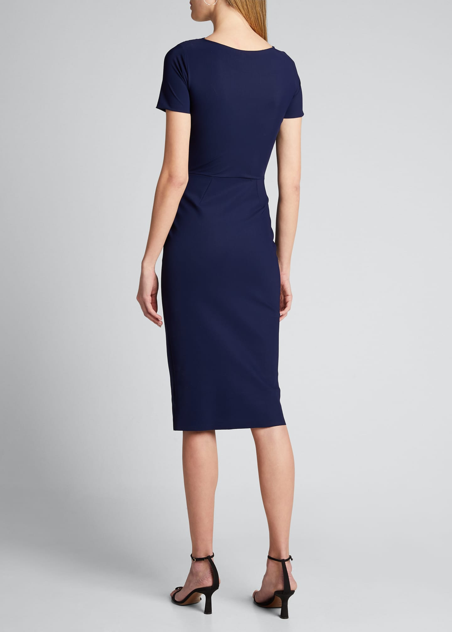 Image 2 of 5: Short-Sleeve Knot Dress