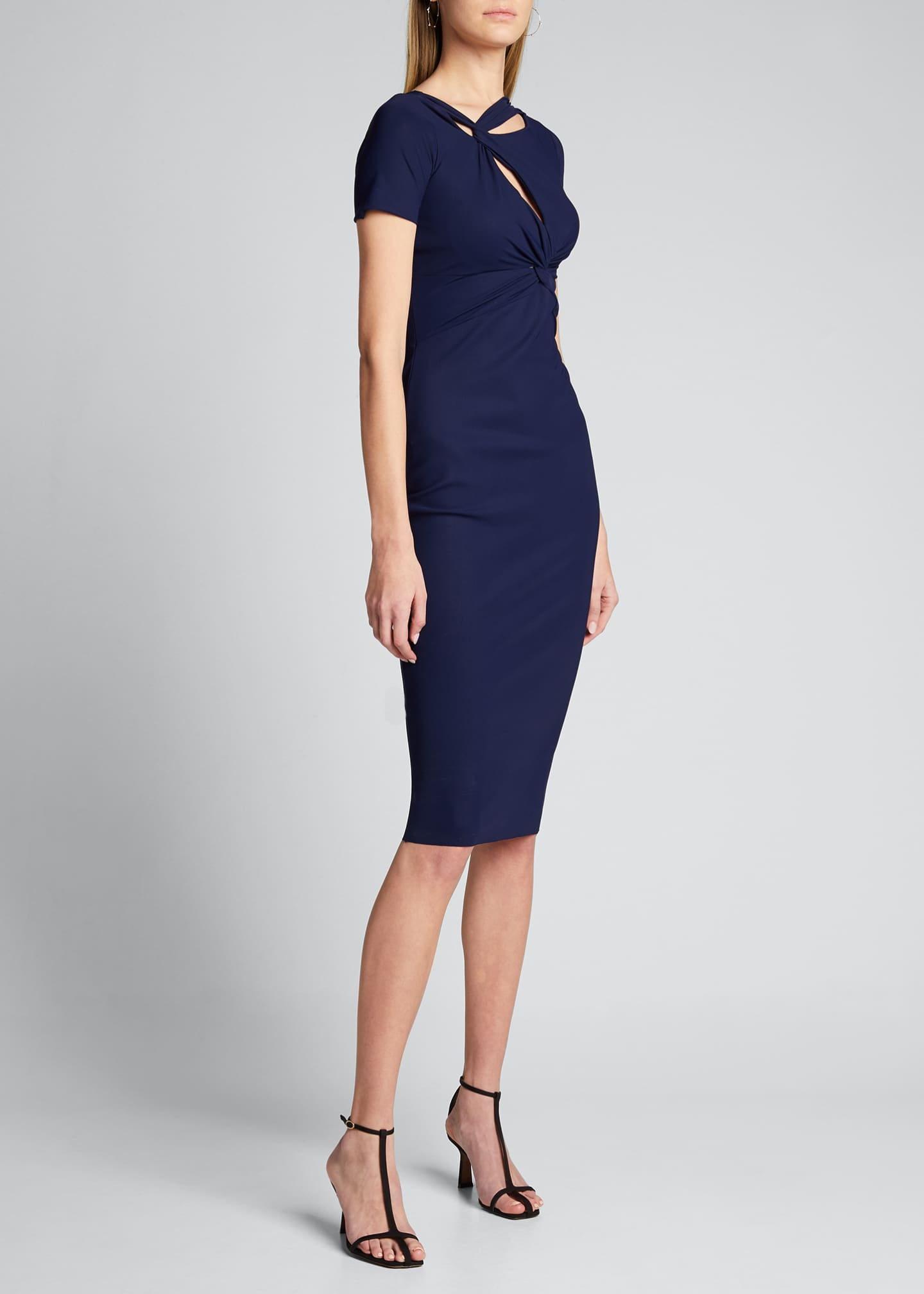 Image 3 of 5: Short-Sleeve Knot Dress