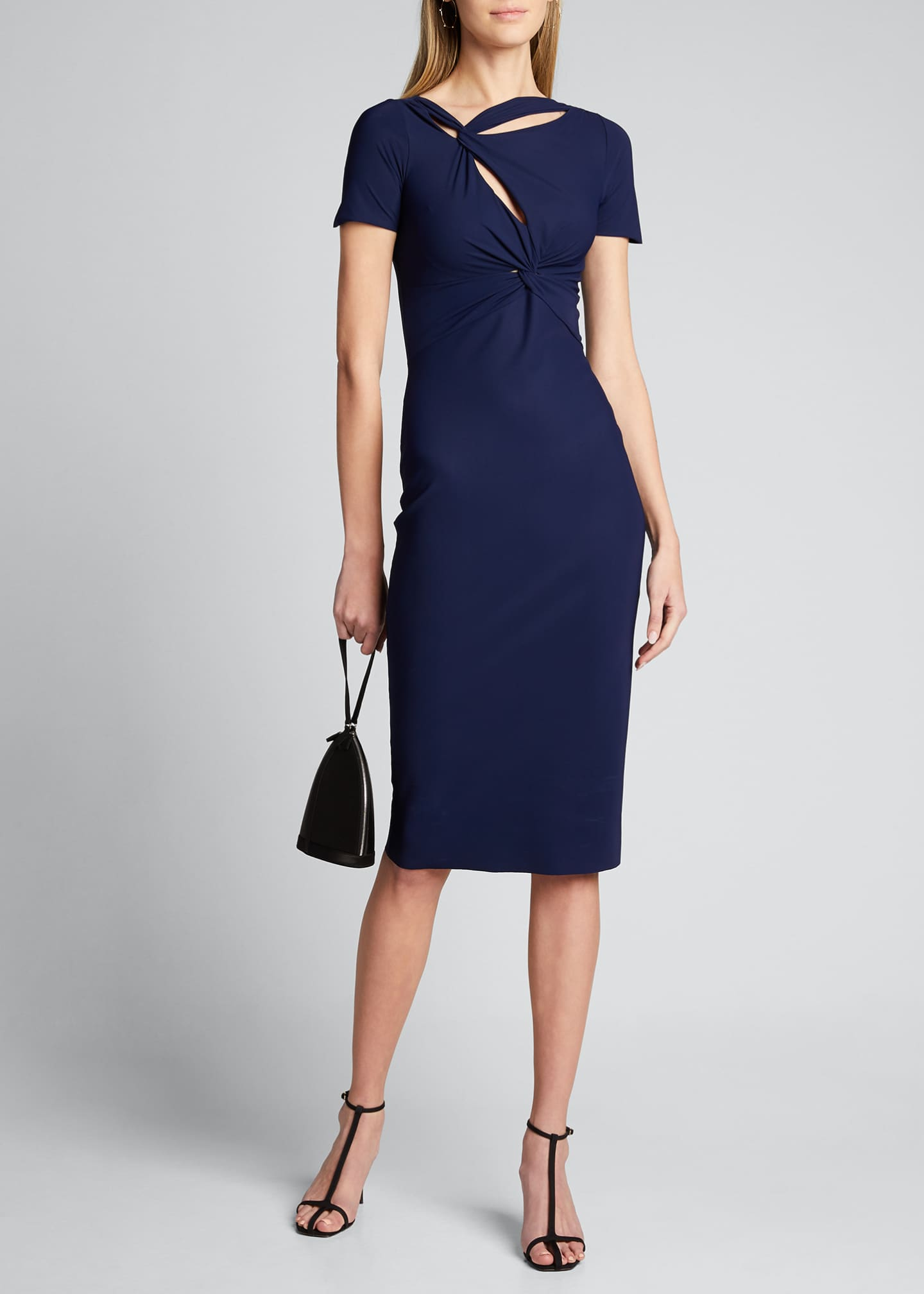 Image 1 of 5: Short-Sleeve Knot Dress